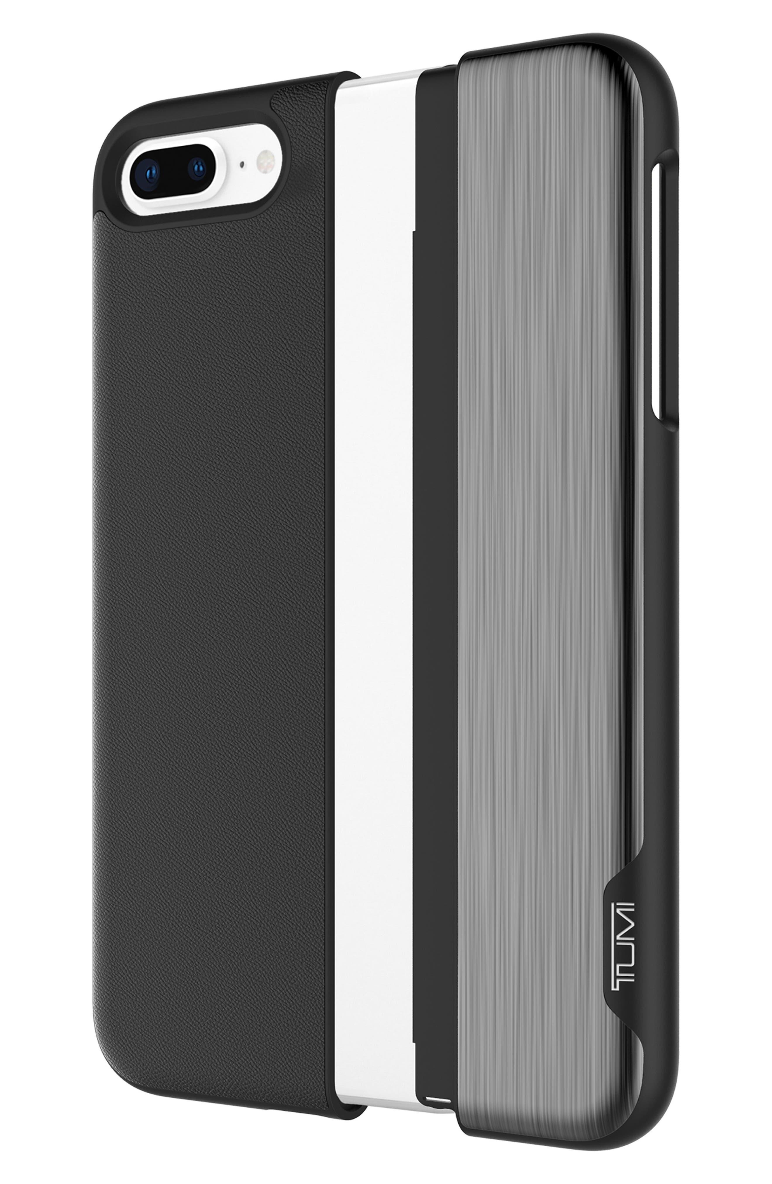 Slider iPhone 8 Plus Case,                             Alternate thumbnail 3, color,                             Black Gunmetal