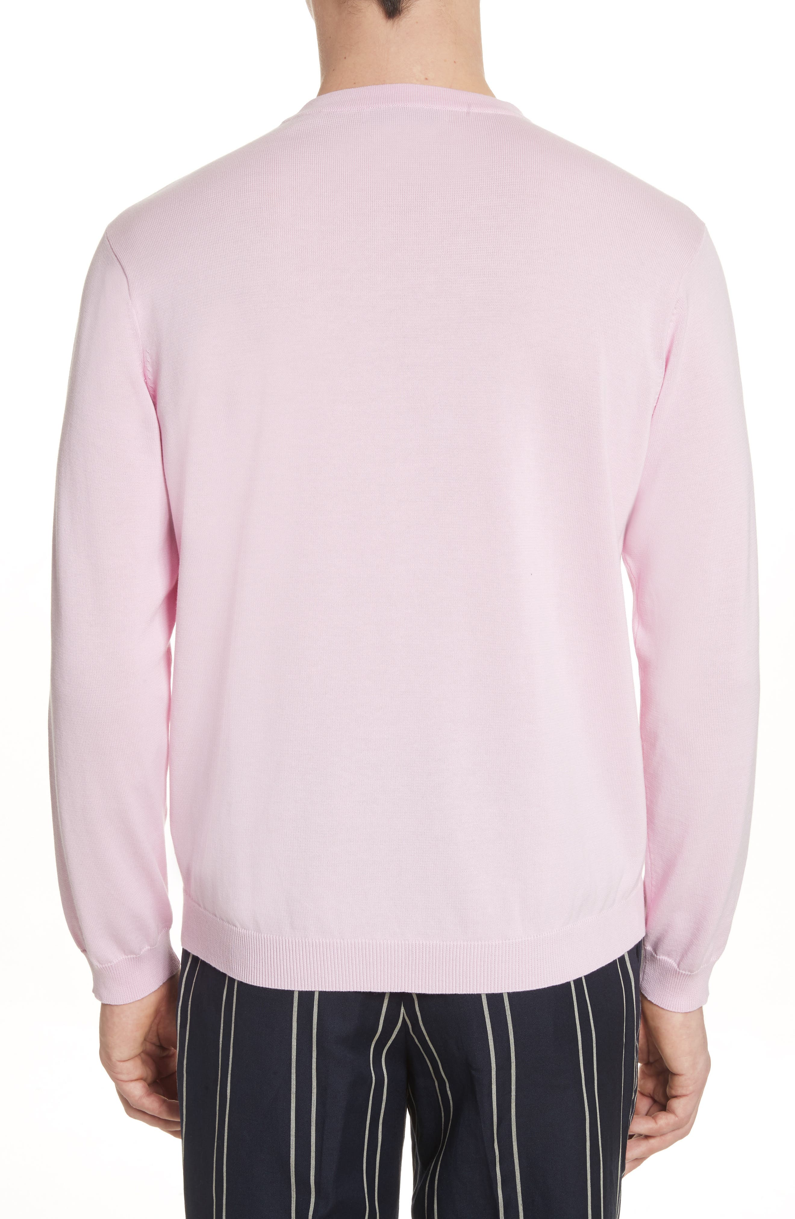 Crewneck Sweater,                             Alternate thumbnail 2, color,                             Pink
