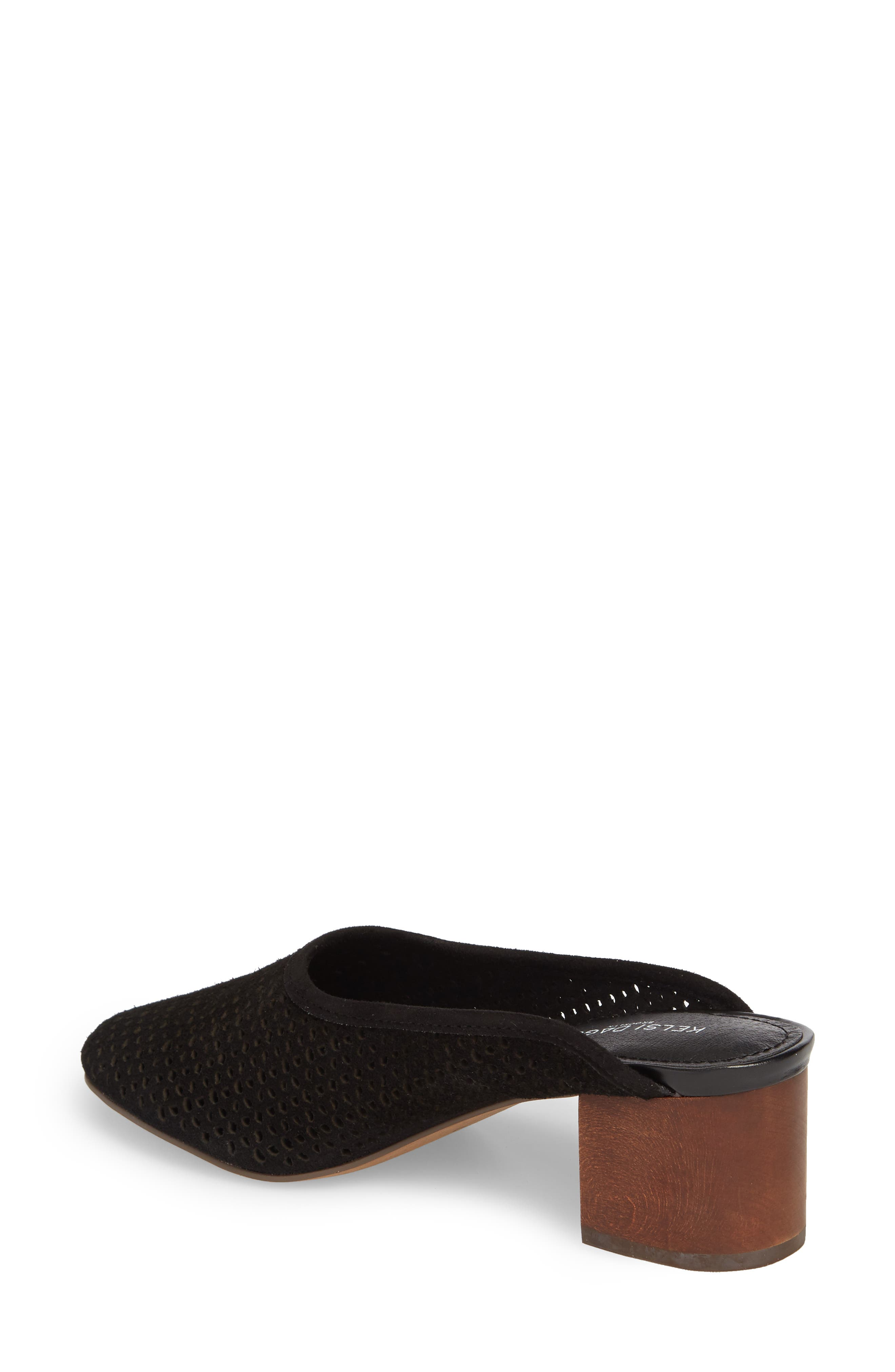 Lincoln Perforated Mule,                             Alternate thumbnail 2, color,                             Black