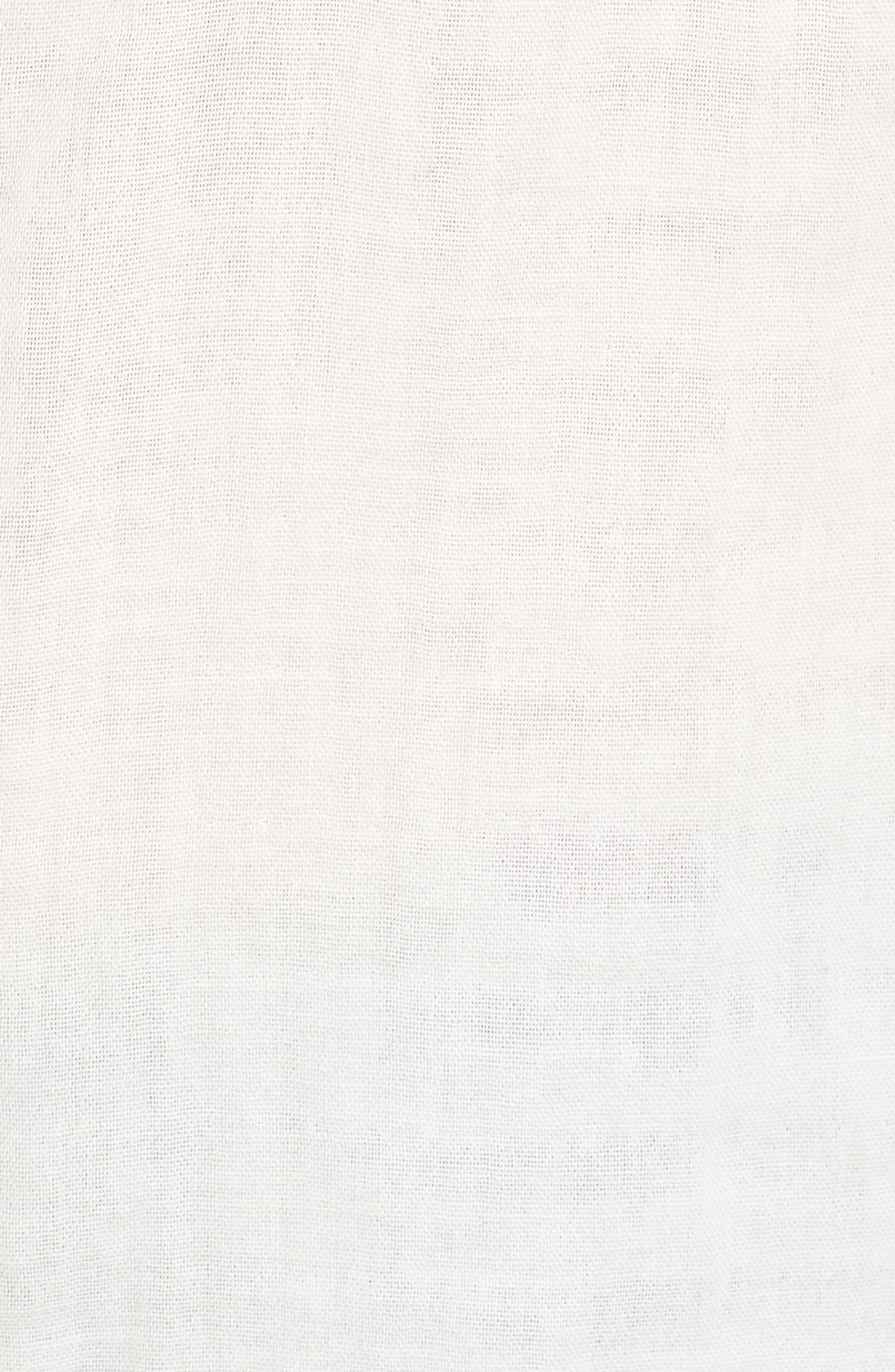Button Front Shirt,                             Alternate thumbnail 5, color,                             Off White