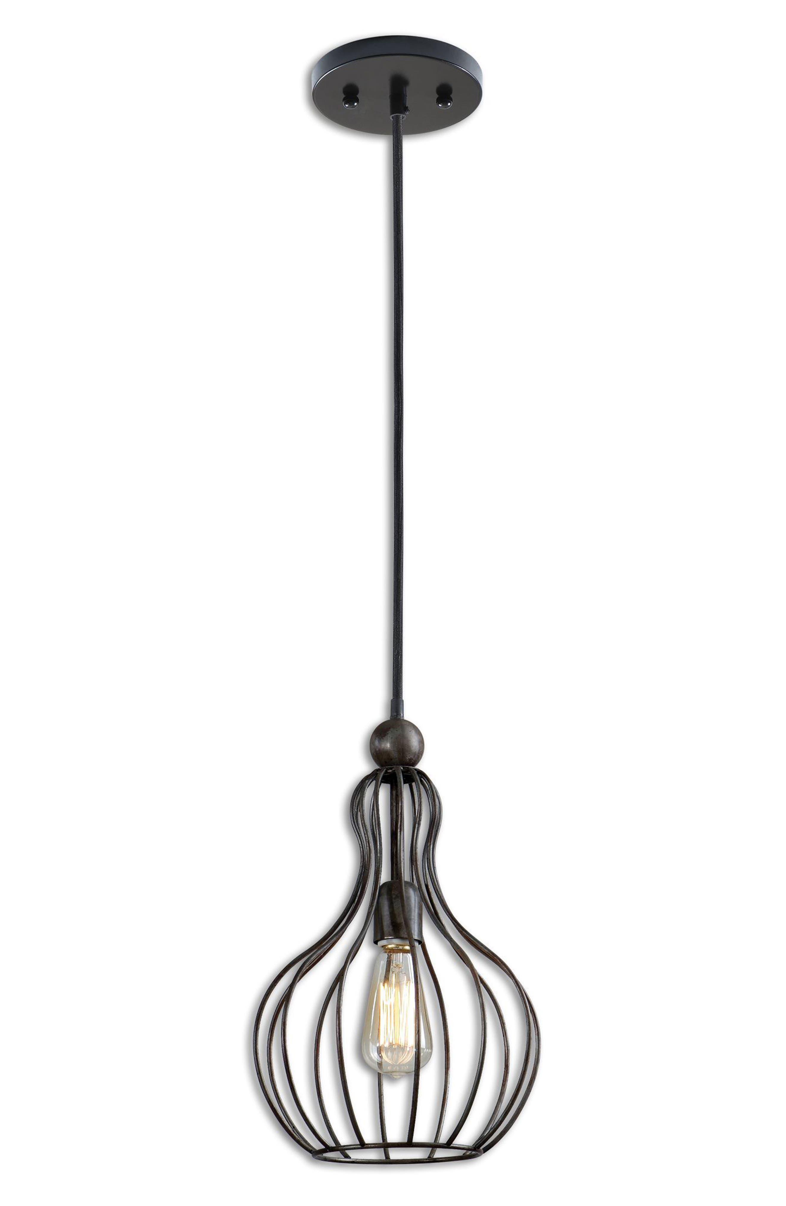 Bourret Pendant Lamp,                         Main,                         color, Black