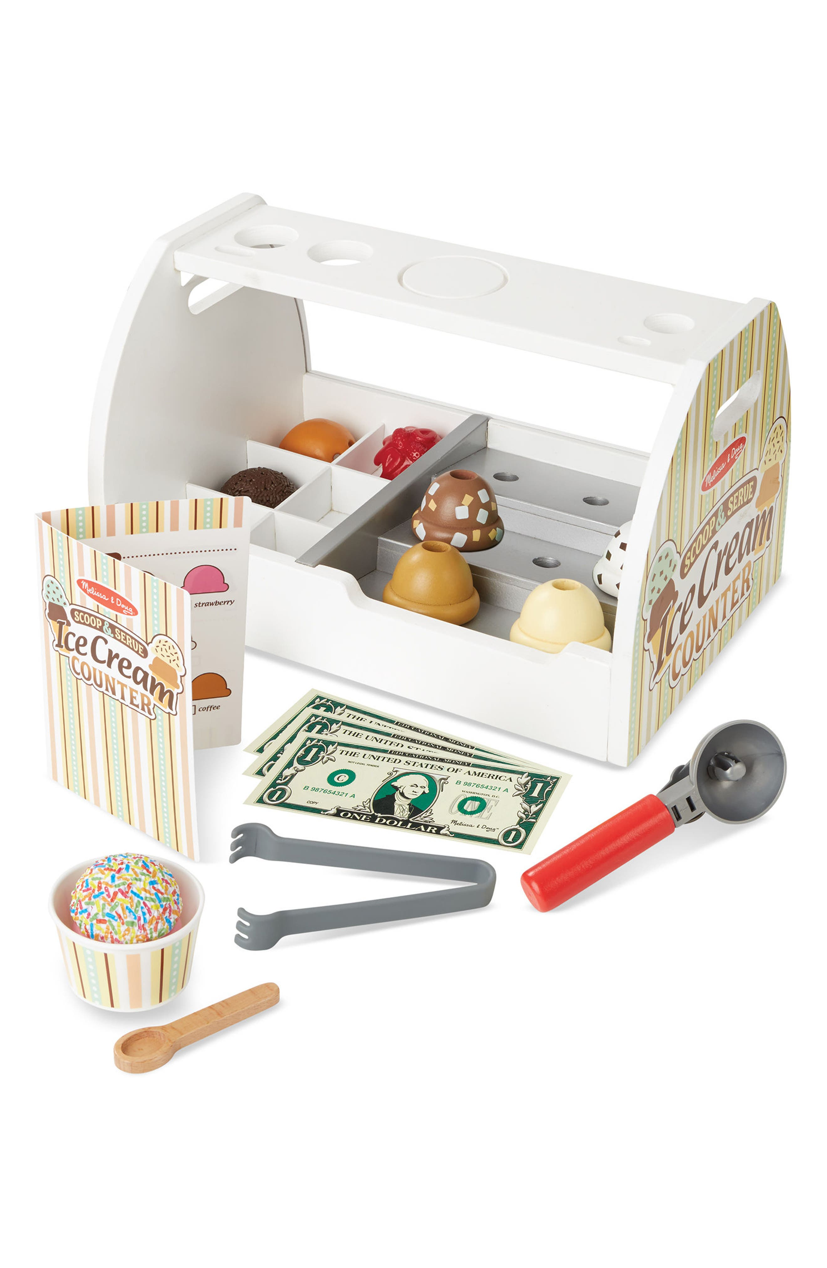 Melissa & Doug Ice Cream Counter Play Set
