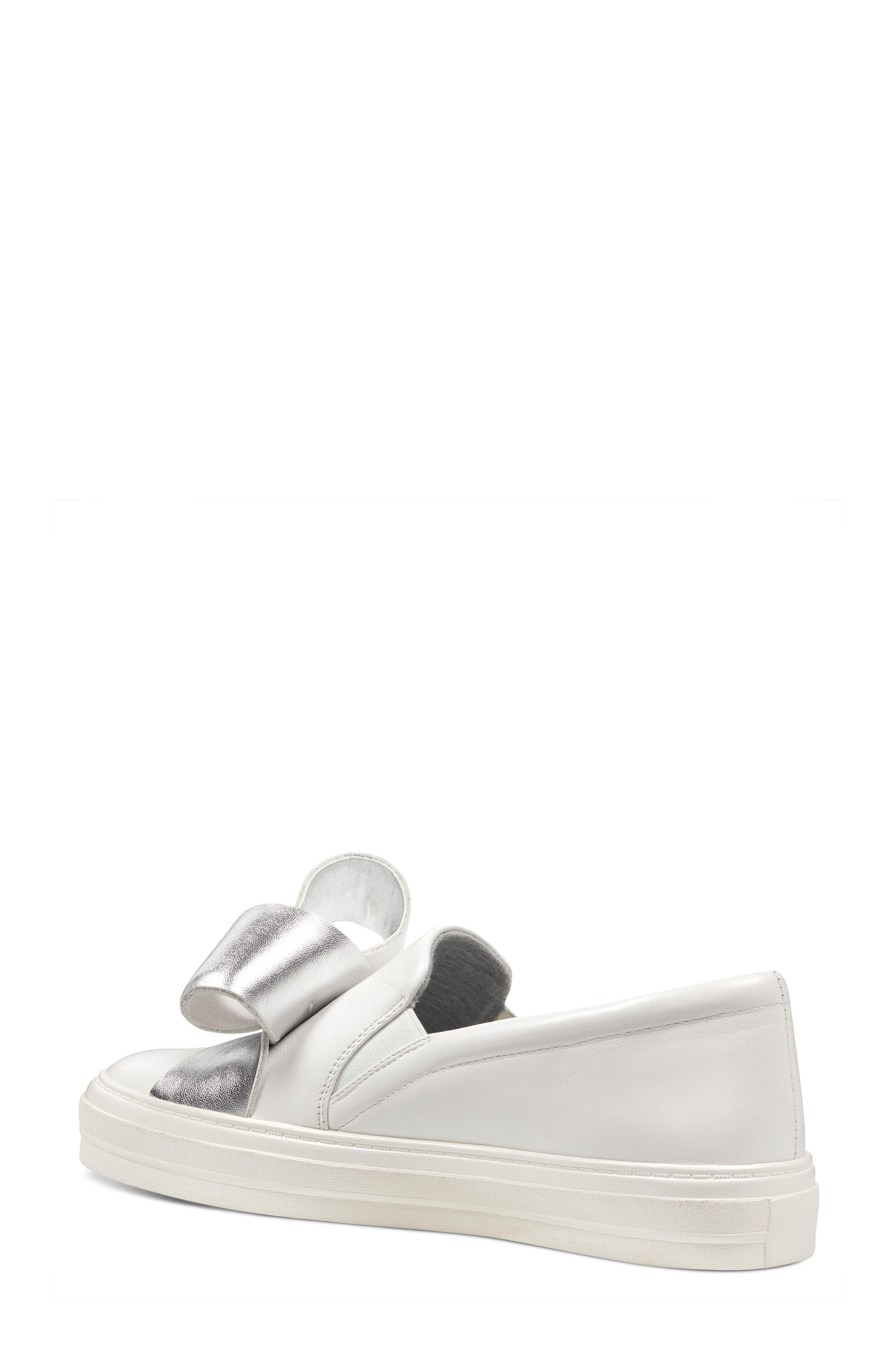 Odienella Slip-On Sneaker,                             Alternate thumbnail 2, color,                             White Multi Leather