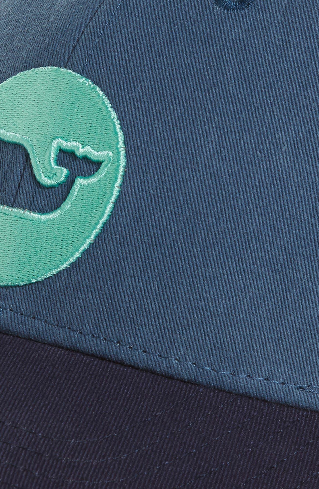 Whale Dot Trucker Cap,                             Alternate thumbnail 3, color,                             Moonshine