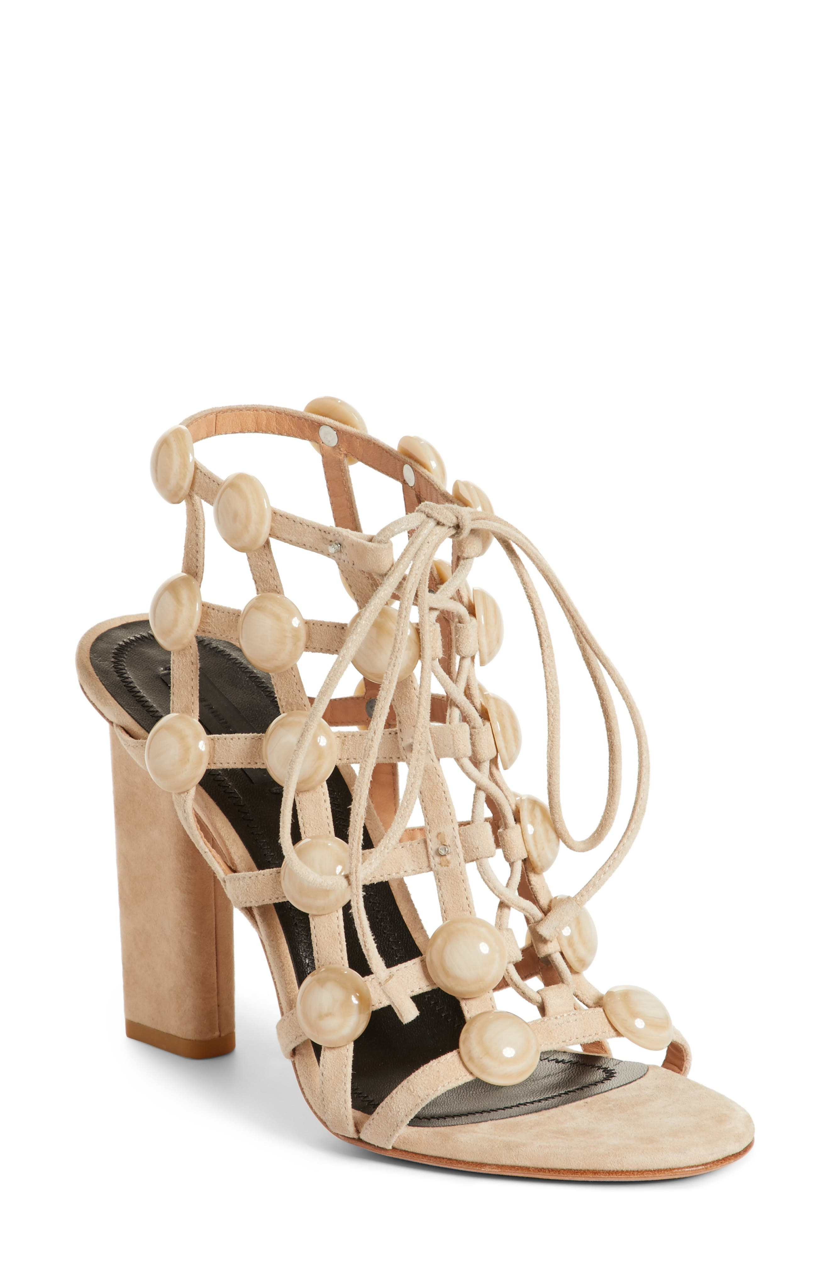 Rubie Studded Sandal,                         Main,                         color, Cashmere