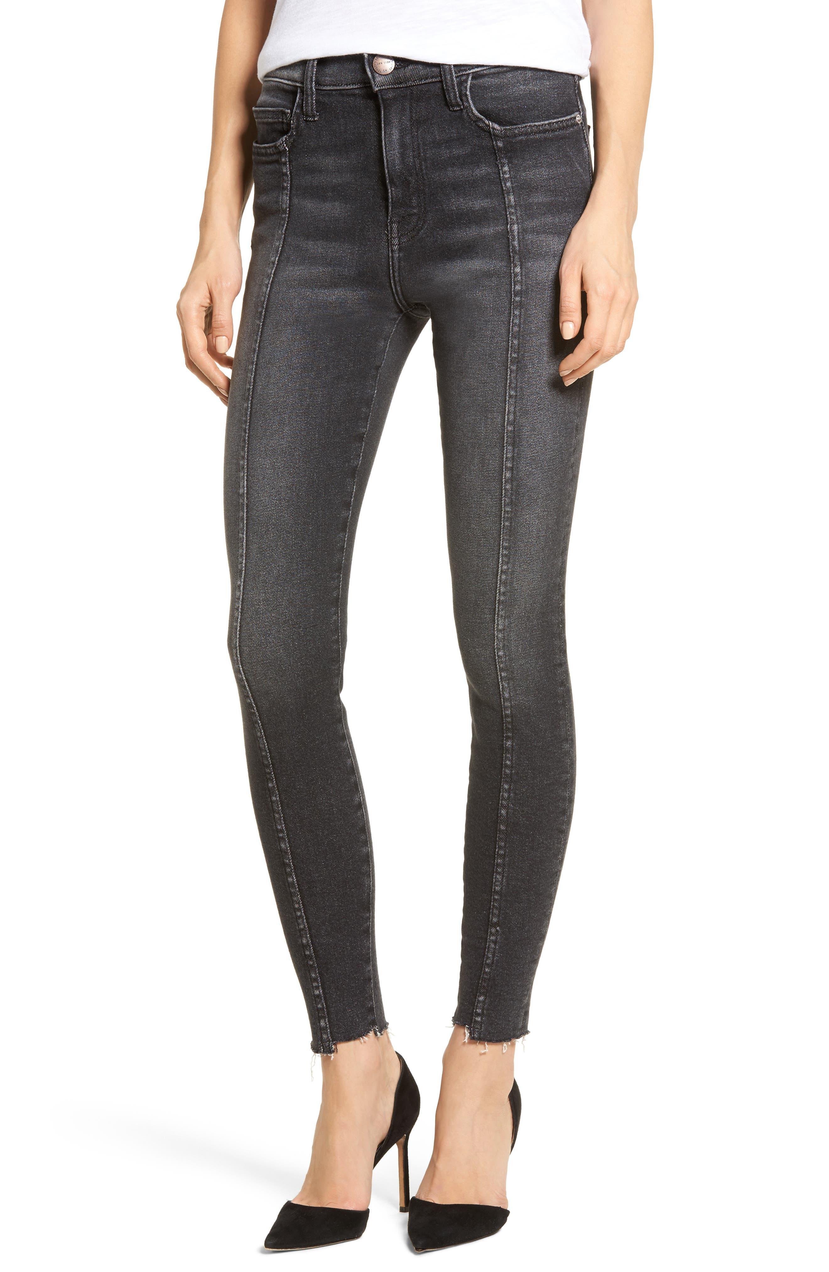 The Ultra High Waist Ankle Skinny Jeans,                             Main thumbnail 1, color,                             Halen/ Micro Step Hem