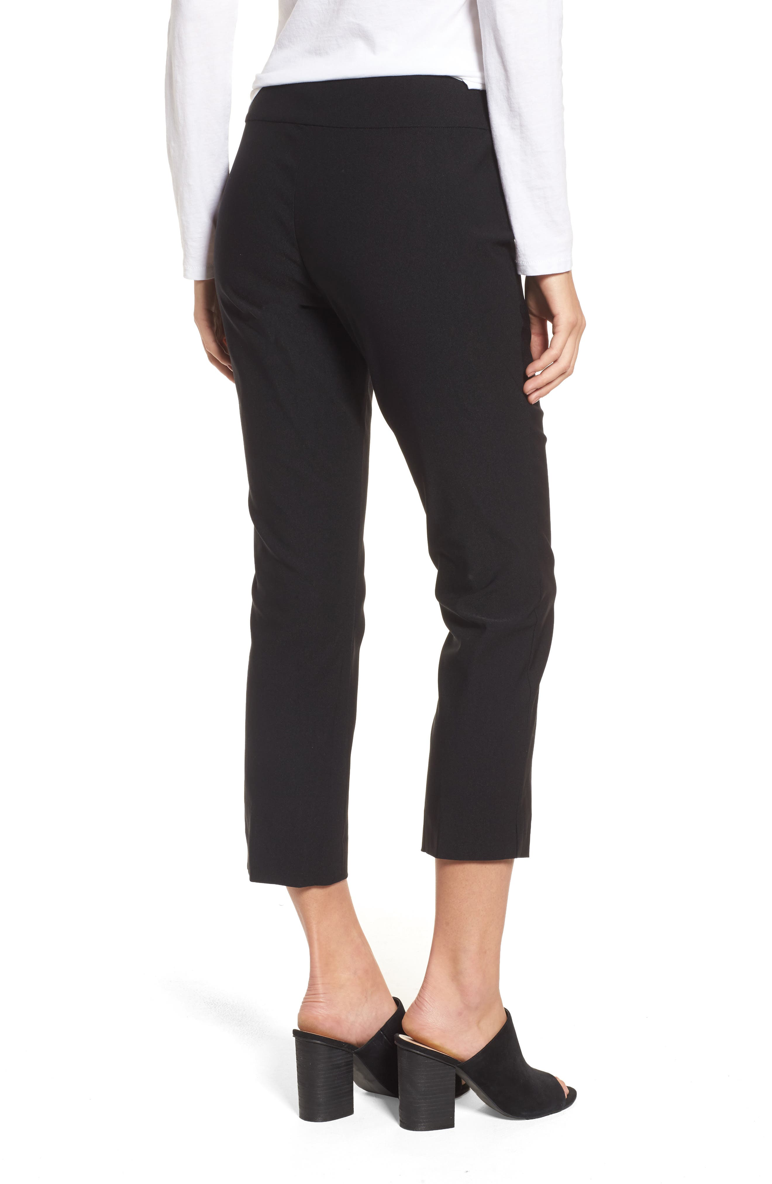 Wonder Stretch Crop Pants,                             Alternate thumbnail 2, color,                             Black Onyx
