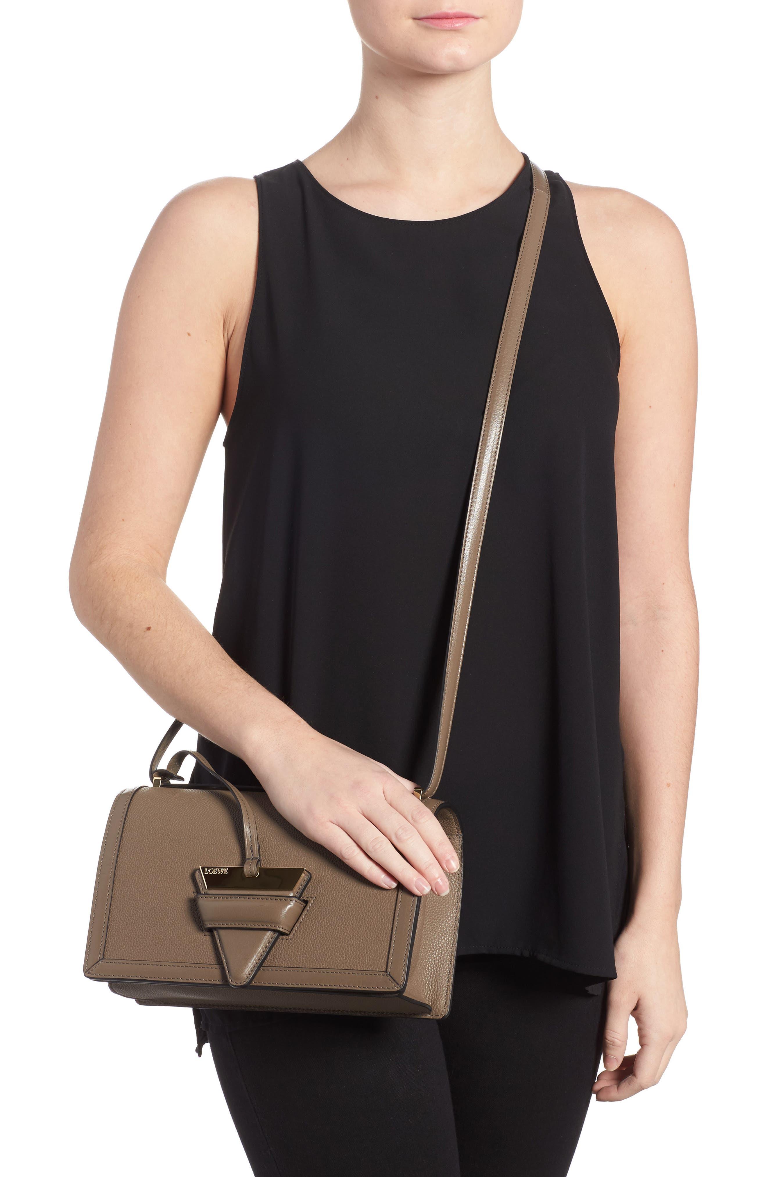 Medium Barcelona Leather Crossbody Bag,                             Alternate thumbnail 2, color,                             Dark Taupe