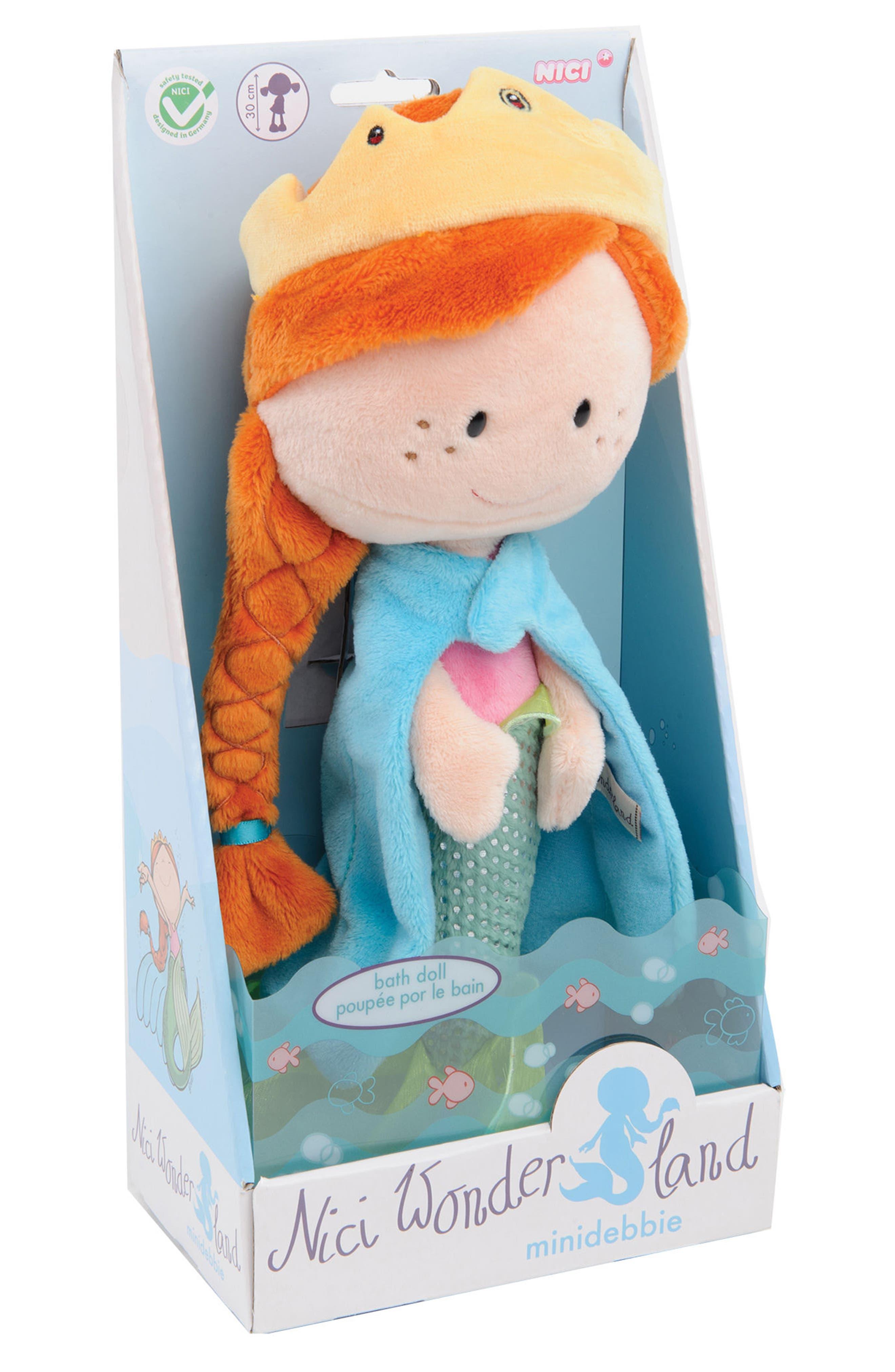Neat Oh! Nici<sup>®</sup> Wonderland Minidebbie the Mermaid Plush Doll,                         Main,                         color, Blue