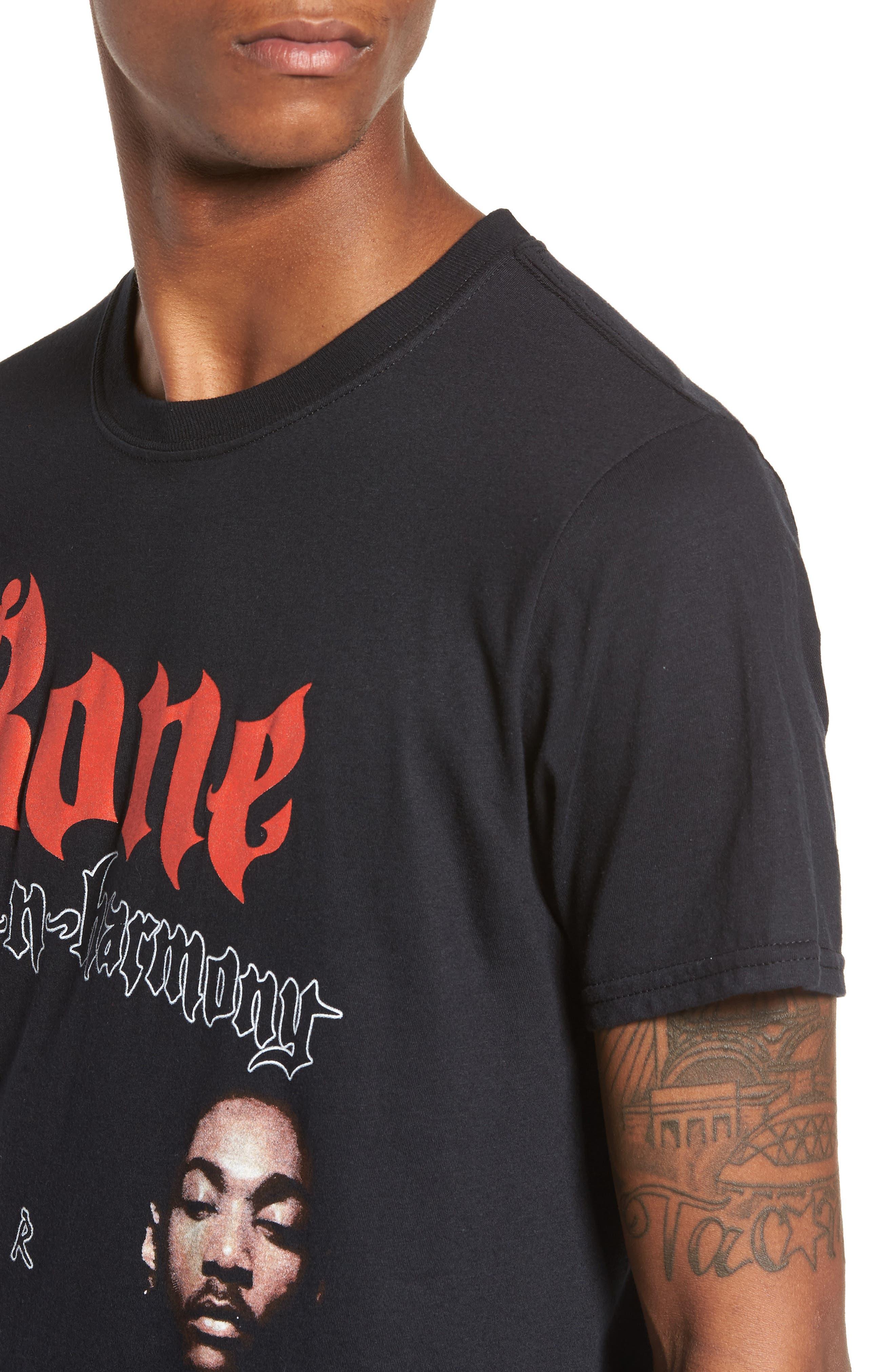 Bone Thugs-n-Harmony T-Shirt,                             Alternate thumbnail 4, color,                             Black Tee Bone Thugs
