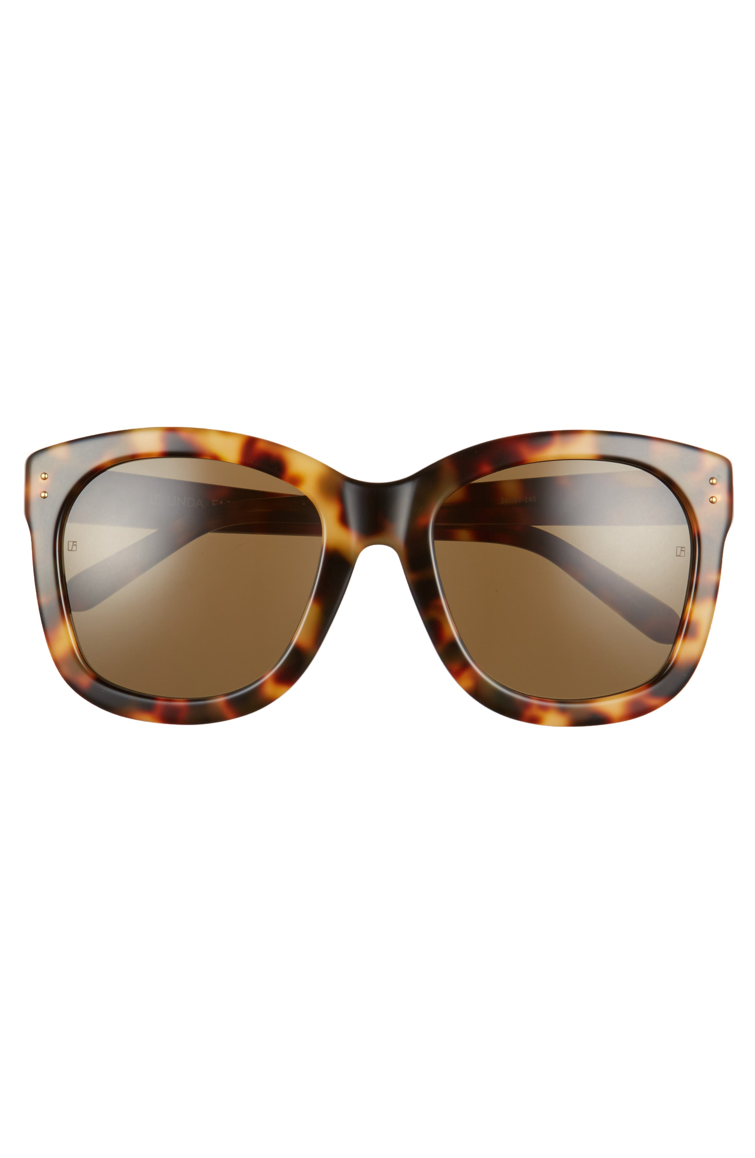Alternate Image 3  - Linda Farrow 56mm Angular Sunglasses