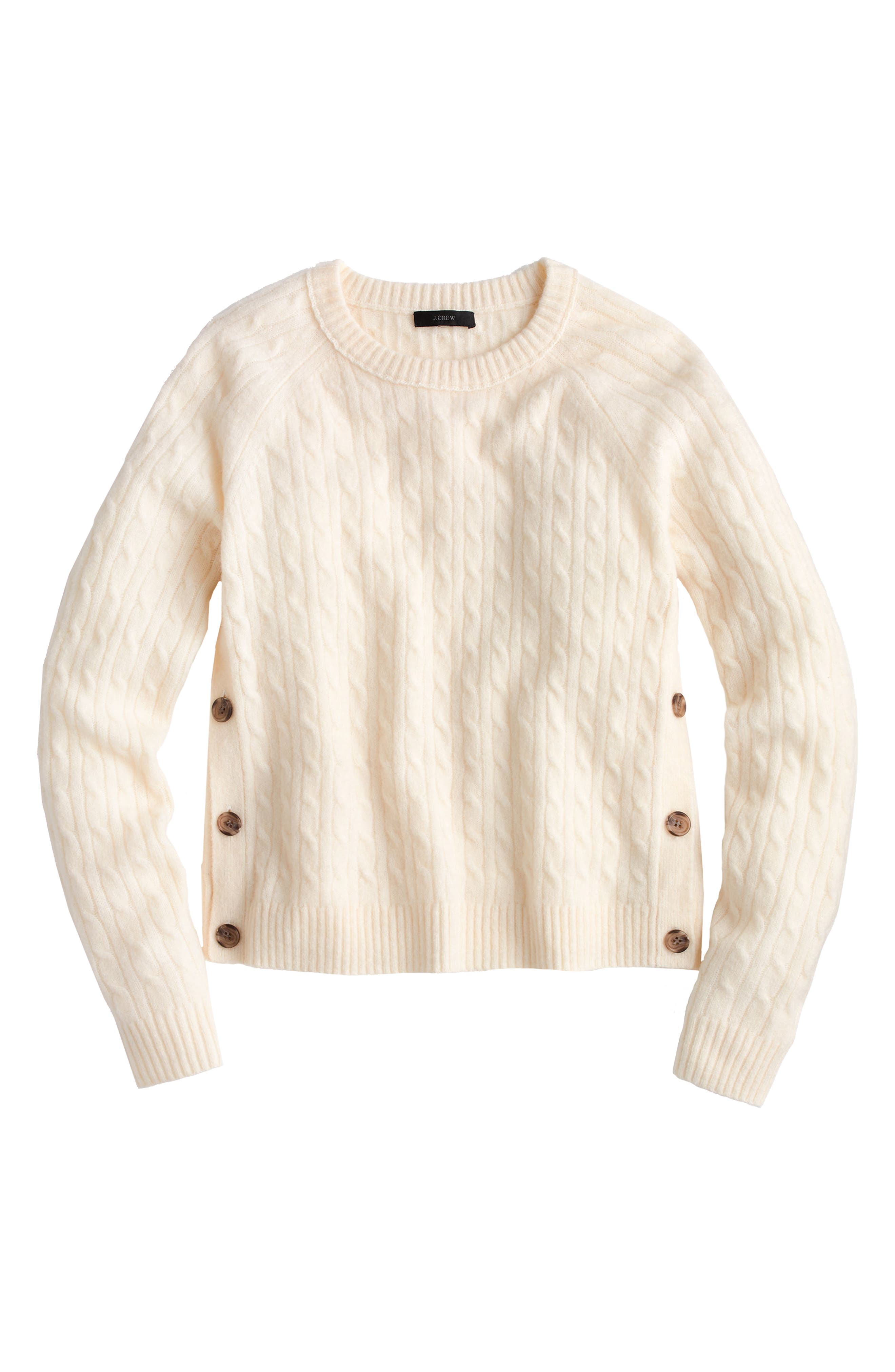 J.Crew Cable Knit Sweater with Buttons