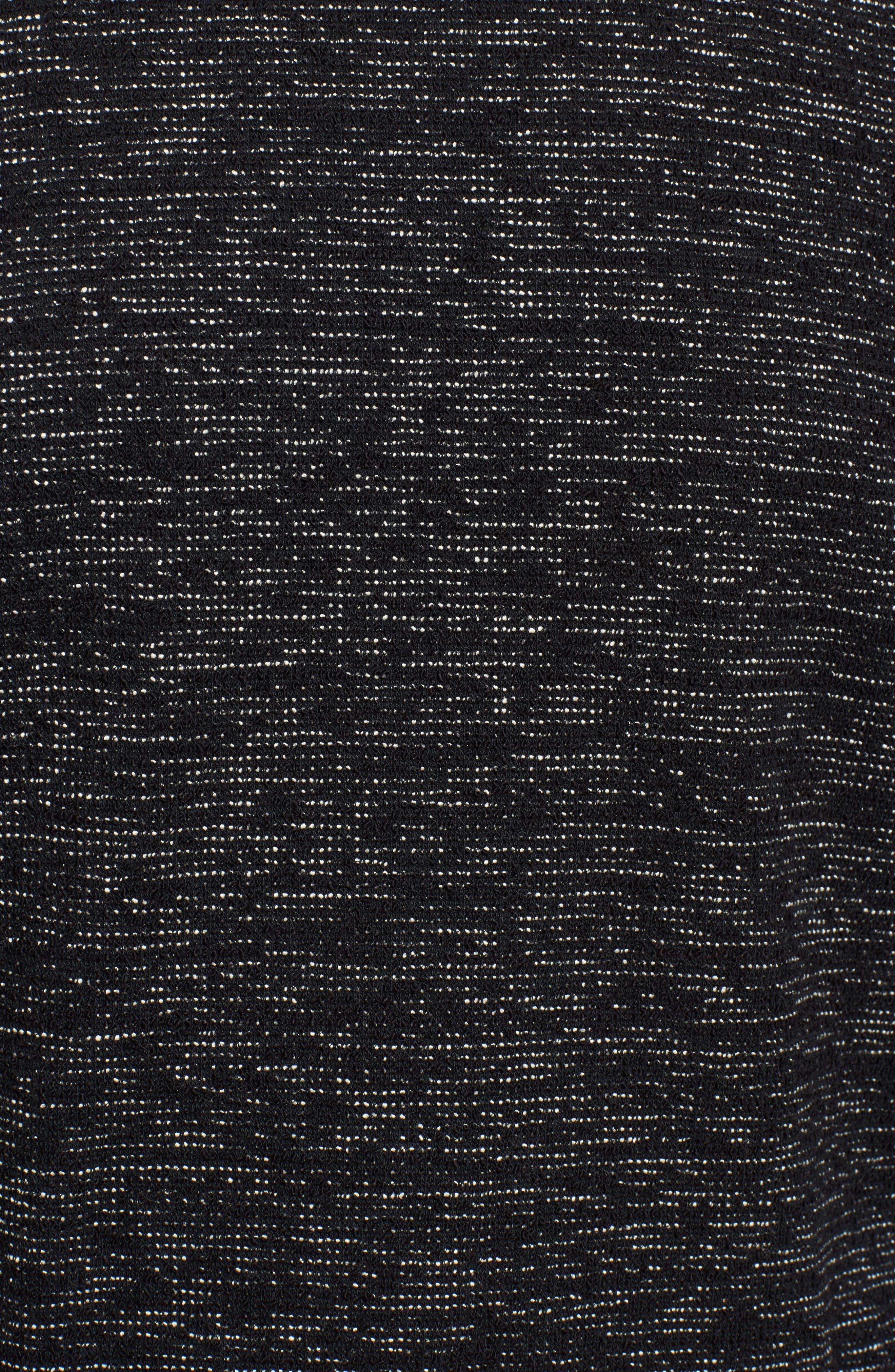 Boxy Organic Cotton Blend Tunic Sweater,                             Alternate thumbnail 5, color,                             Black