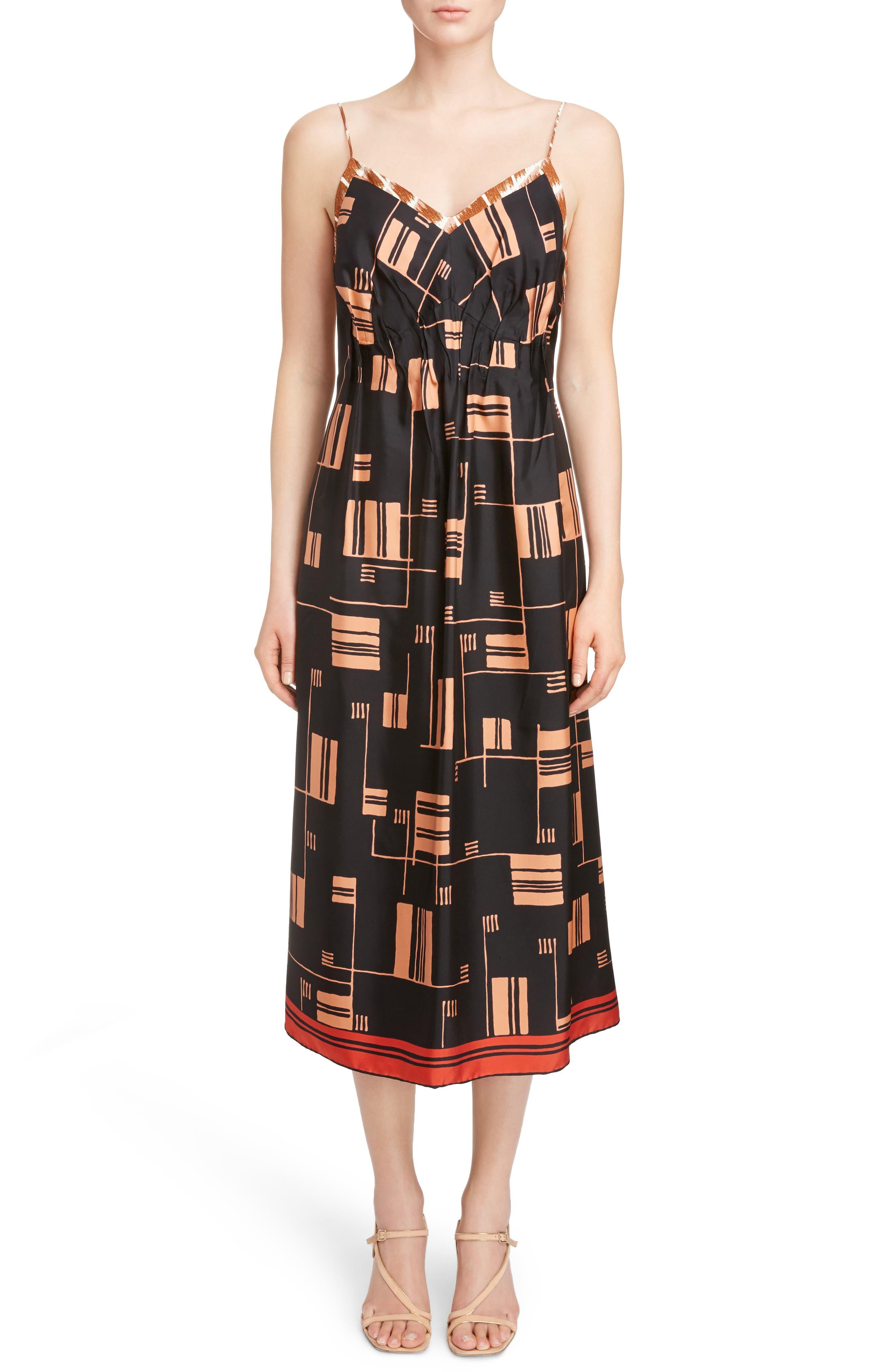 Flyaway Scarf Dress,                         Main,                         color, Rust