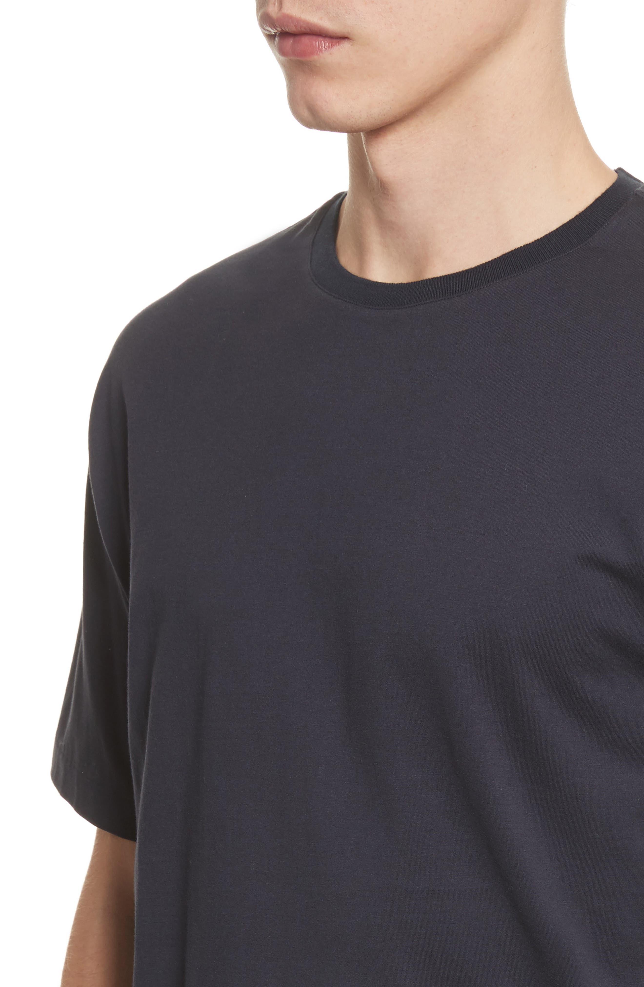 Jersey T-Shirt,                             Alternate thumbnail 4, color,                             Navy