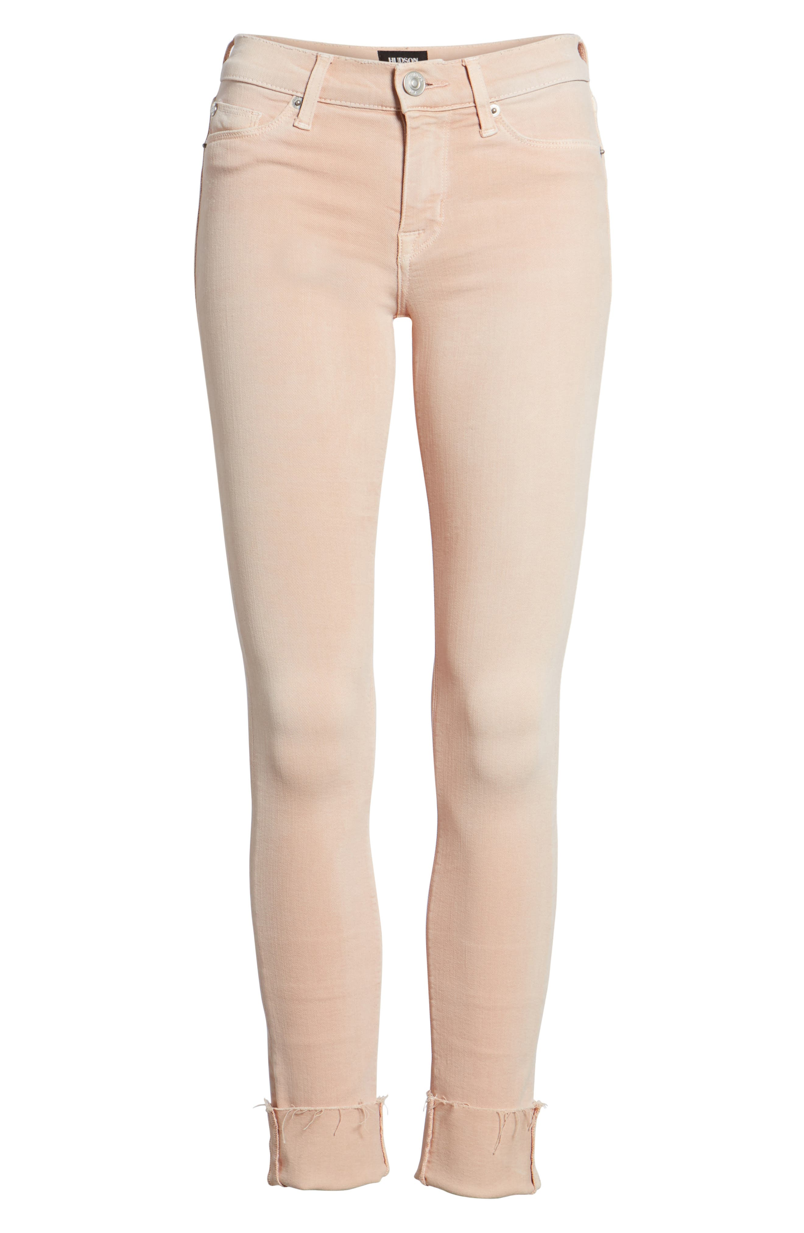 Tally Crop Skinny Jeans,                             Alternate thumbnail 7, color,                             Worn Rosewater