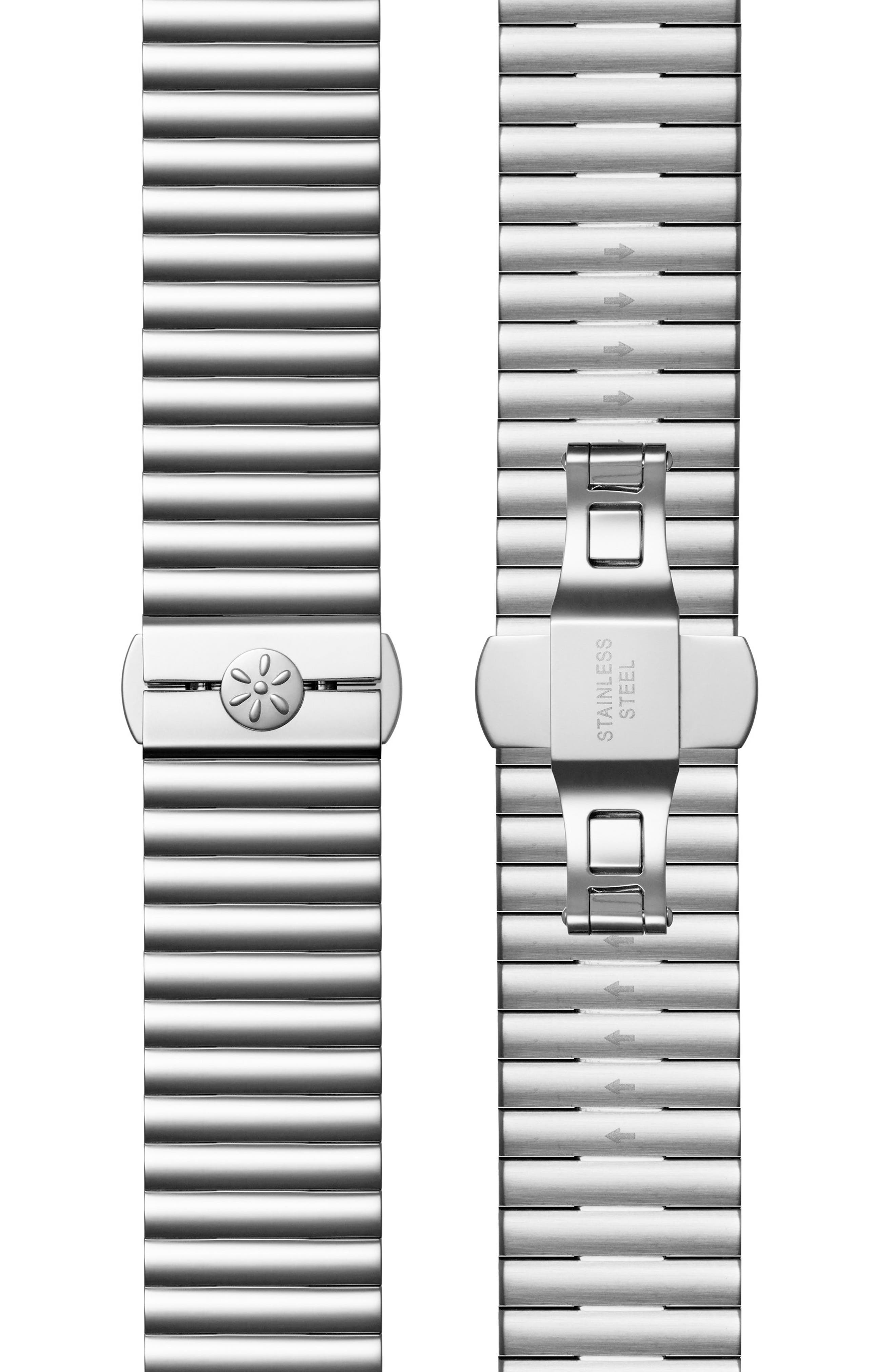 The Shirley Fromer Bracelet Watch, 32mm x 25mm,                             Alternate thumbnail 6, color,                             Silver/ Blue/ Silver