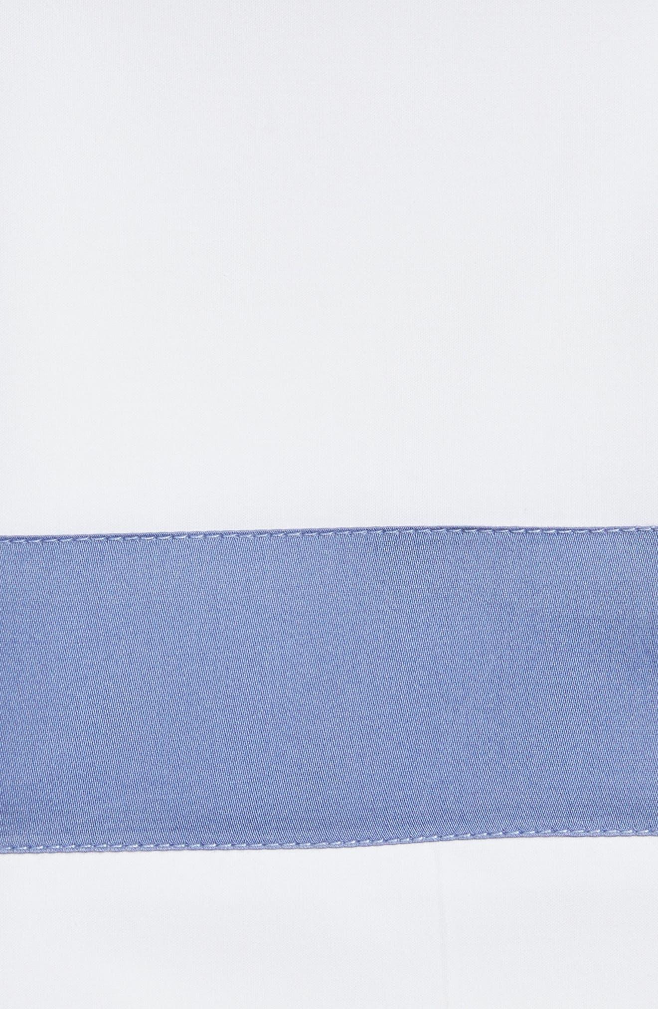 Orlo Pillowcase,                             Alternate thumbnail 2, color,                             White/ Cornflower