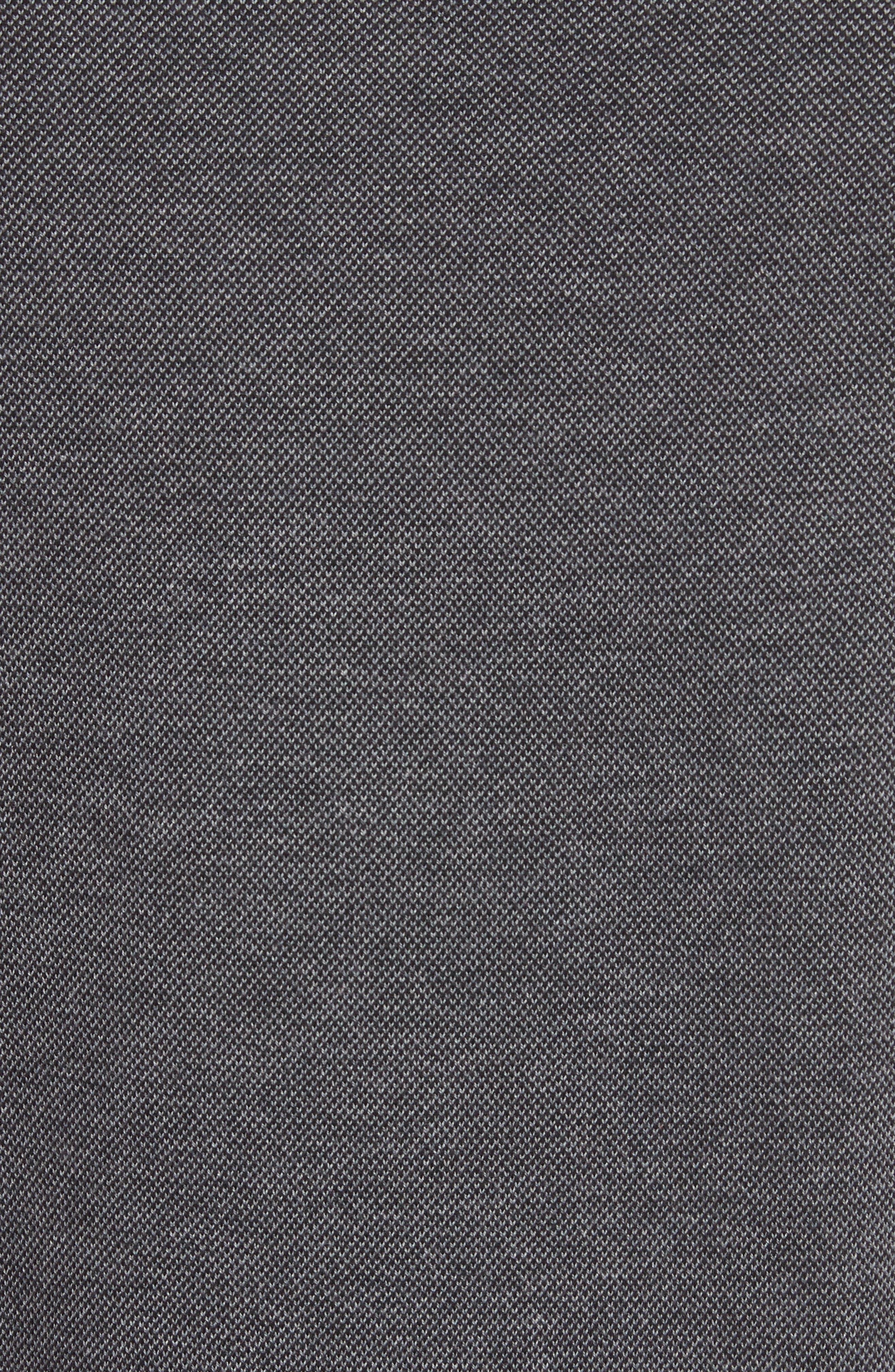 Textured Cotton Sweatshirt,                             Alternate thumbnail 5, color,                             Charcoal