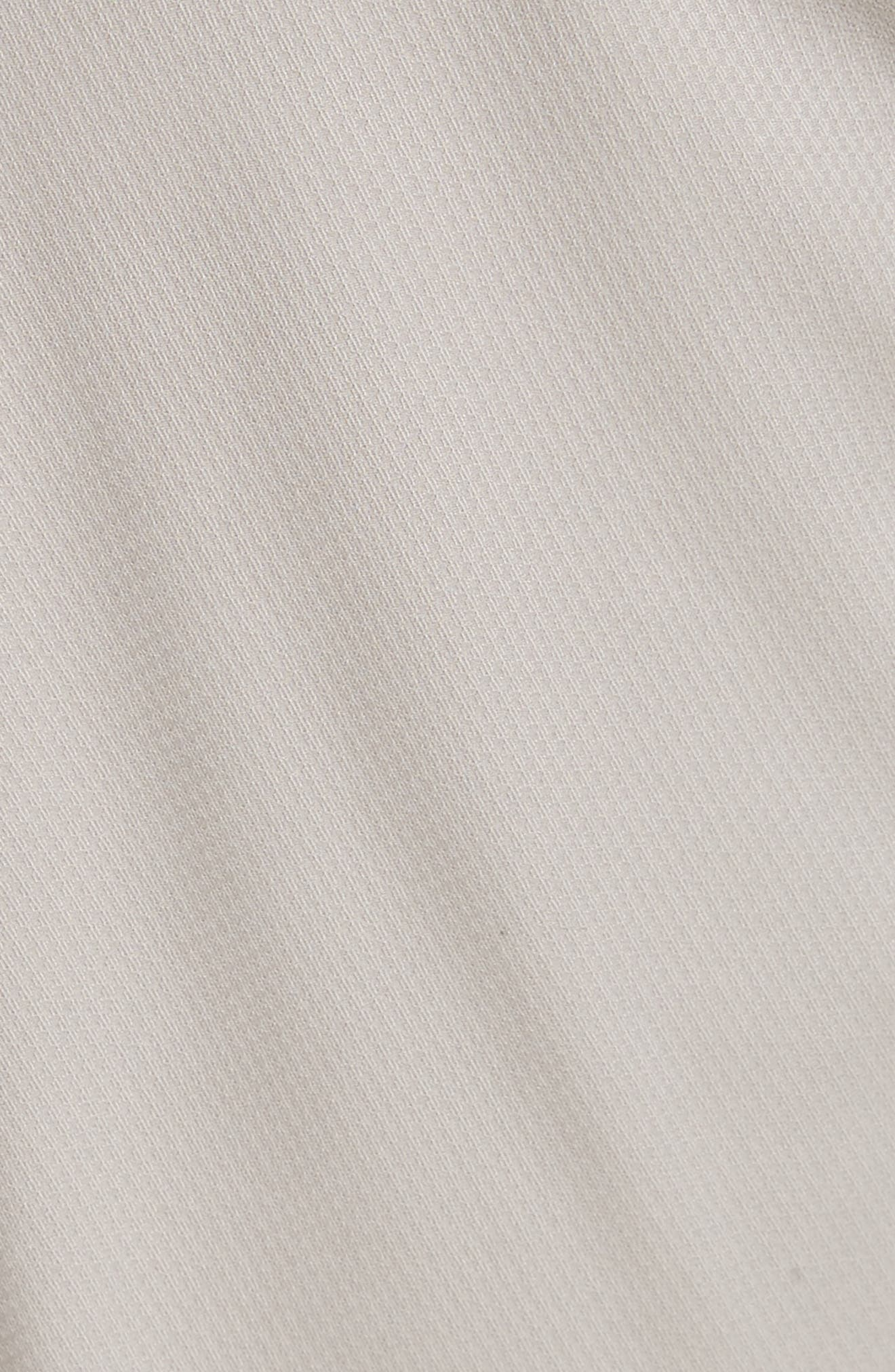 Flat Front Stretch Solid Cotton Trousers,                             Alternate thumbnail 5, color,                             Stone
