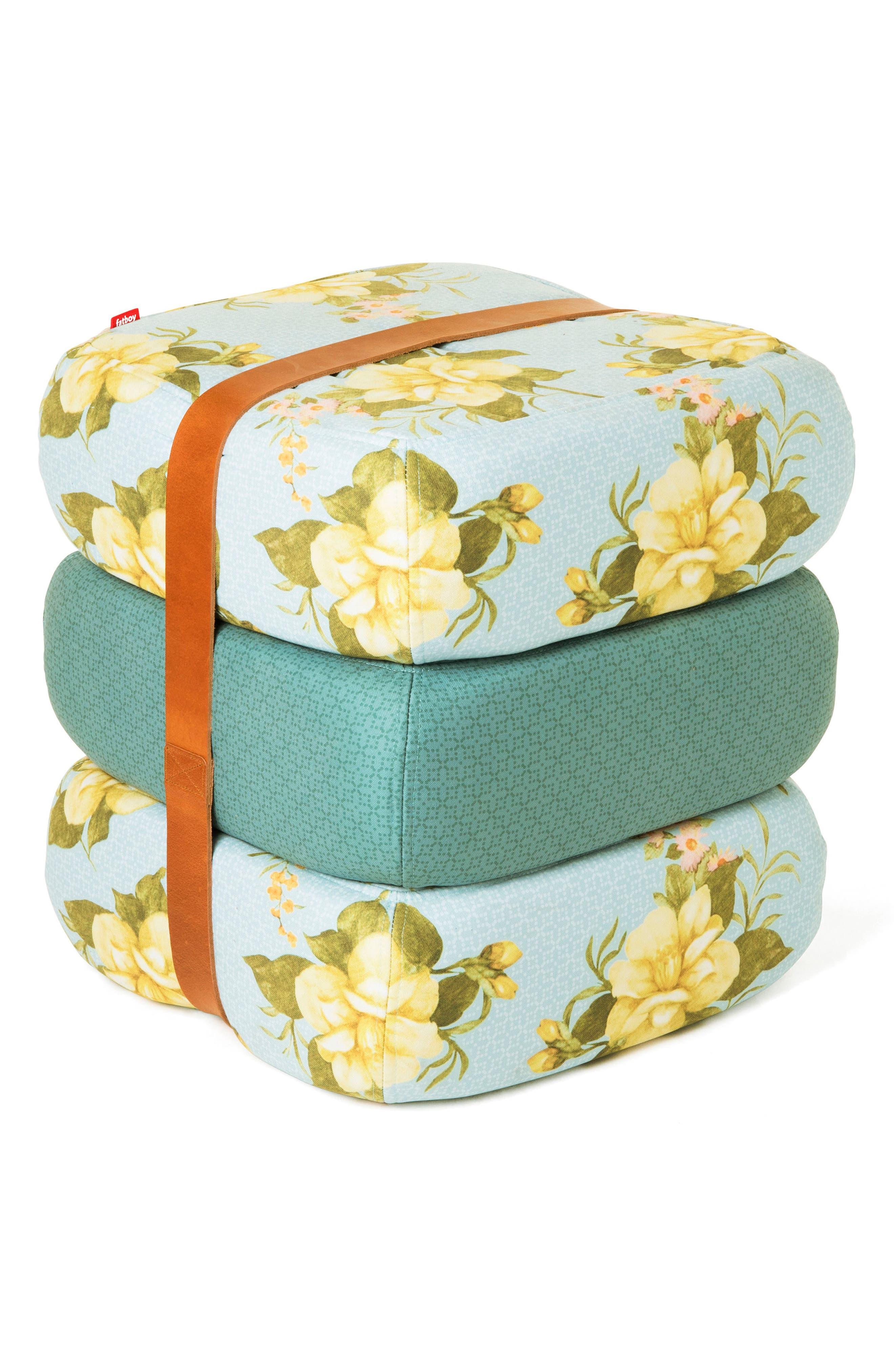 Baboesjka Set of 3 Pillows,                         Main,                         color, Wild Roses Light Blue