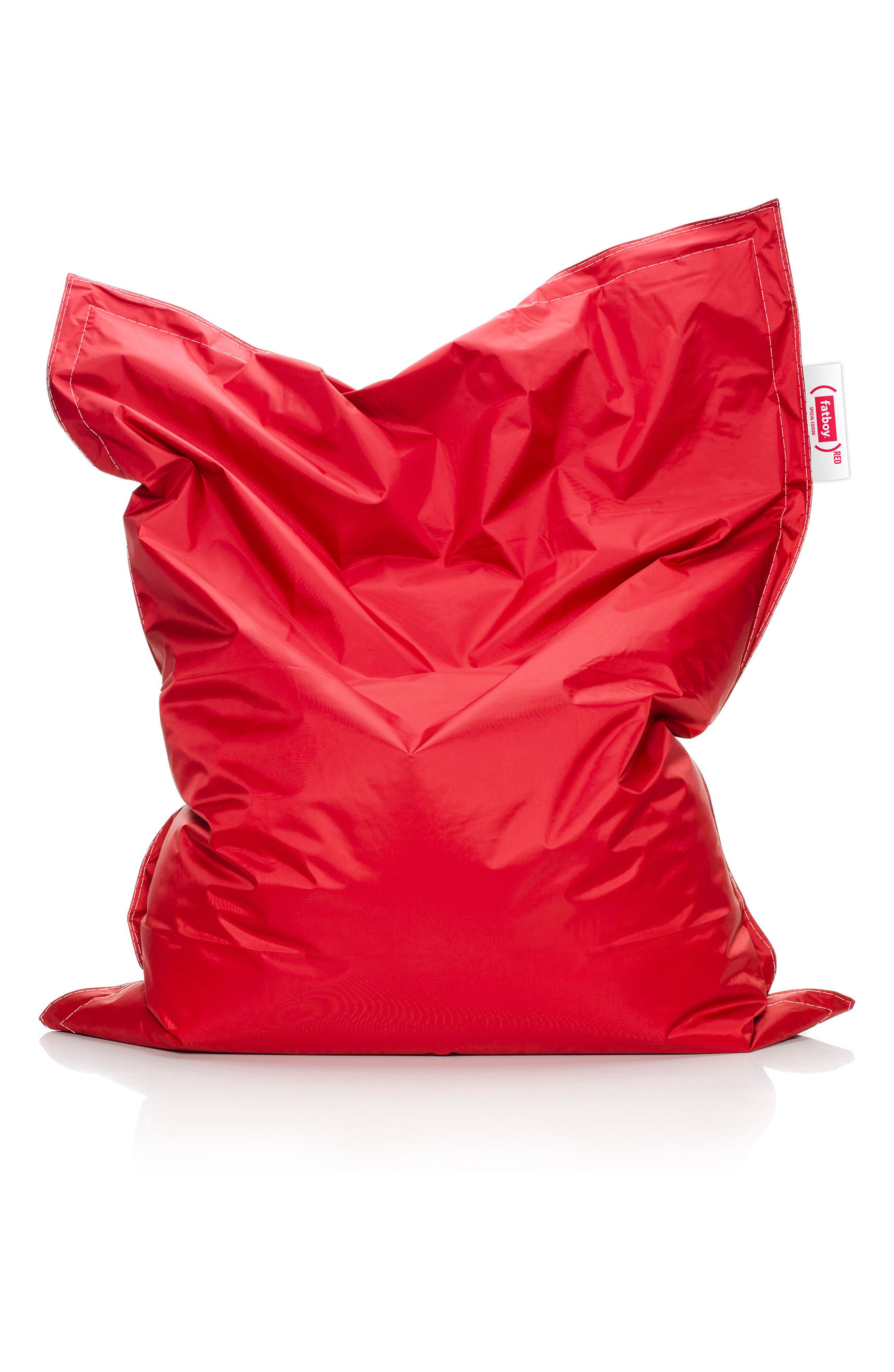 Junior RED Special Edition Beanbag Chair,                             Main thumbnail 1, color,                             Red