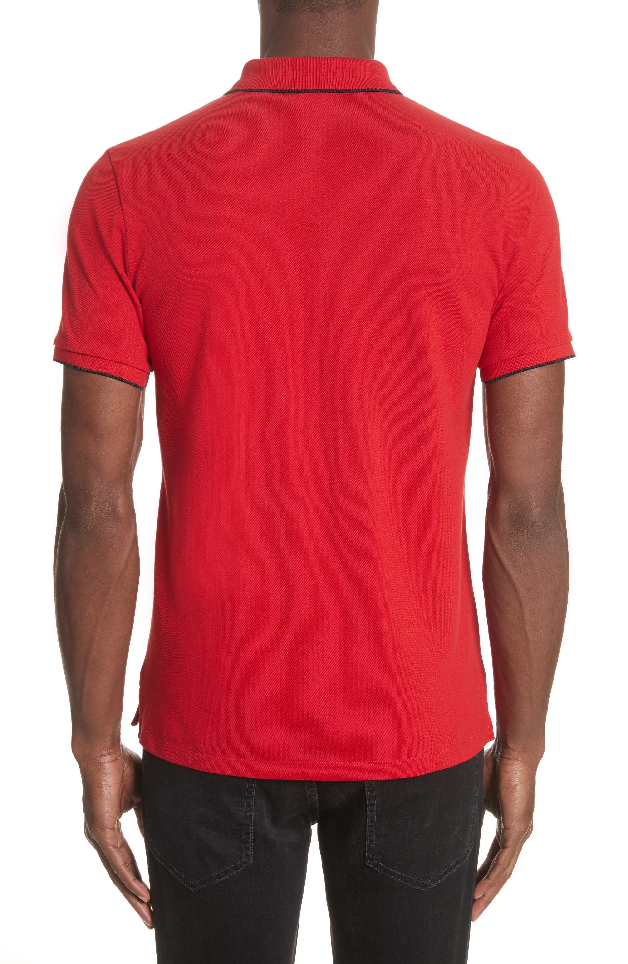 Tipped Piqué Polo,                             Alternate thumbnail 2, color,                             Red