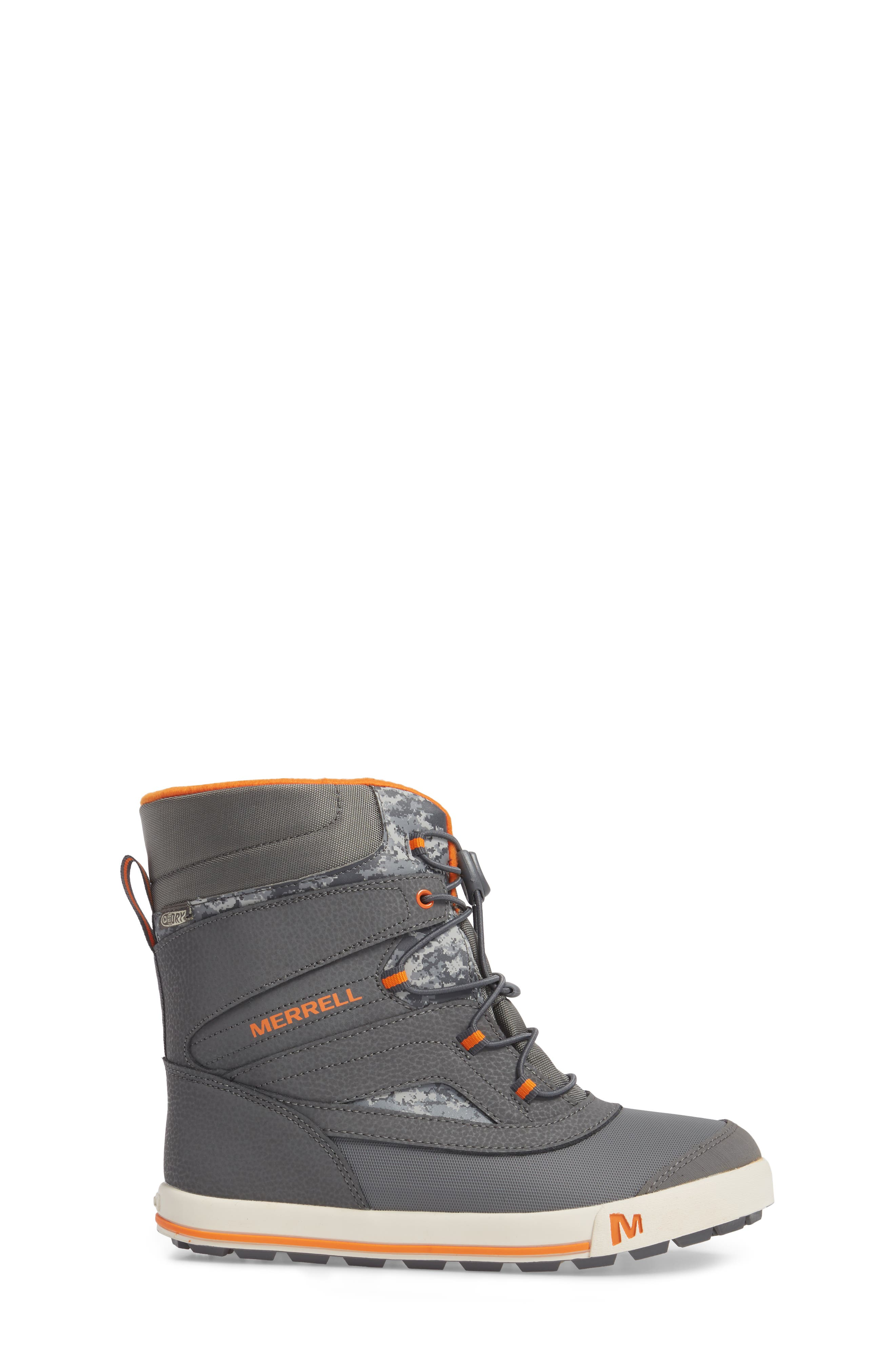 Snow Bank 2 Insulated Waterproof Boot,                             Alternate thumbnail 3, color,                             Grey/ Orange