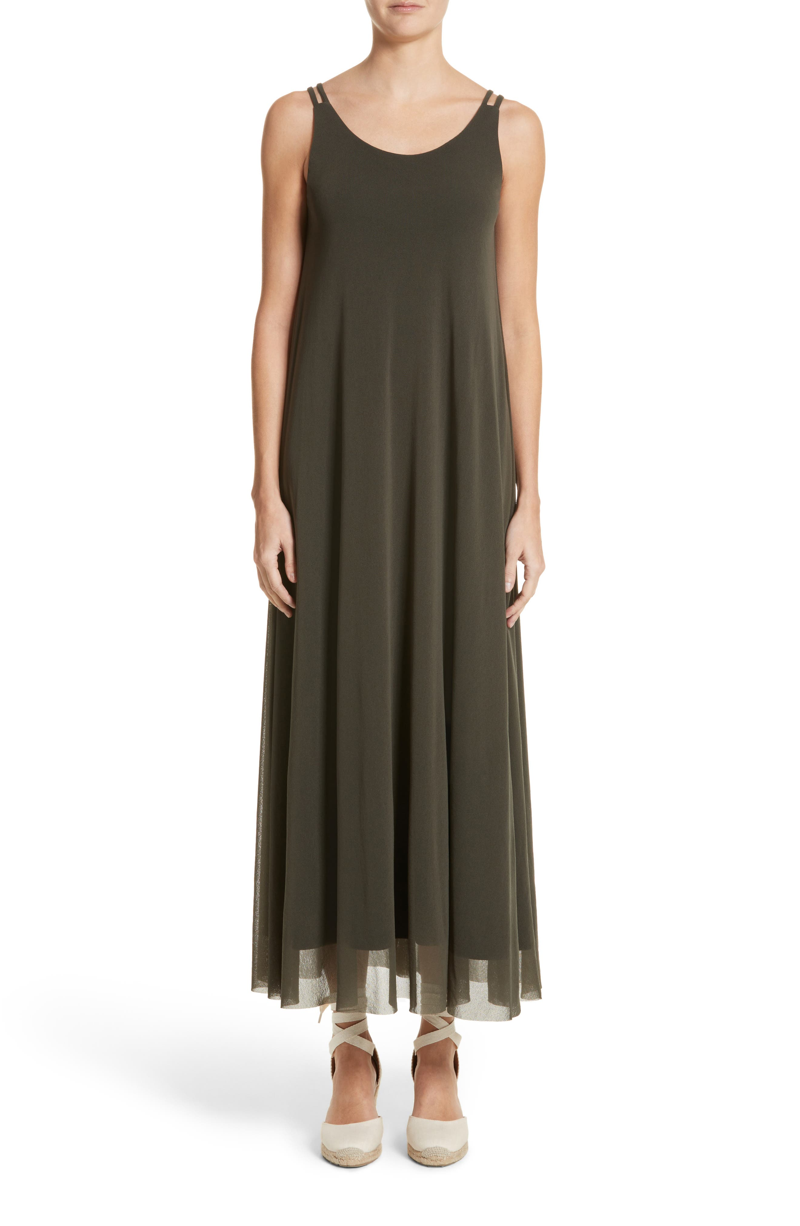 Tulle Strappy Maxi Dress,                         Main,                         color, Dandy