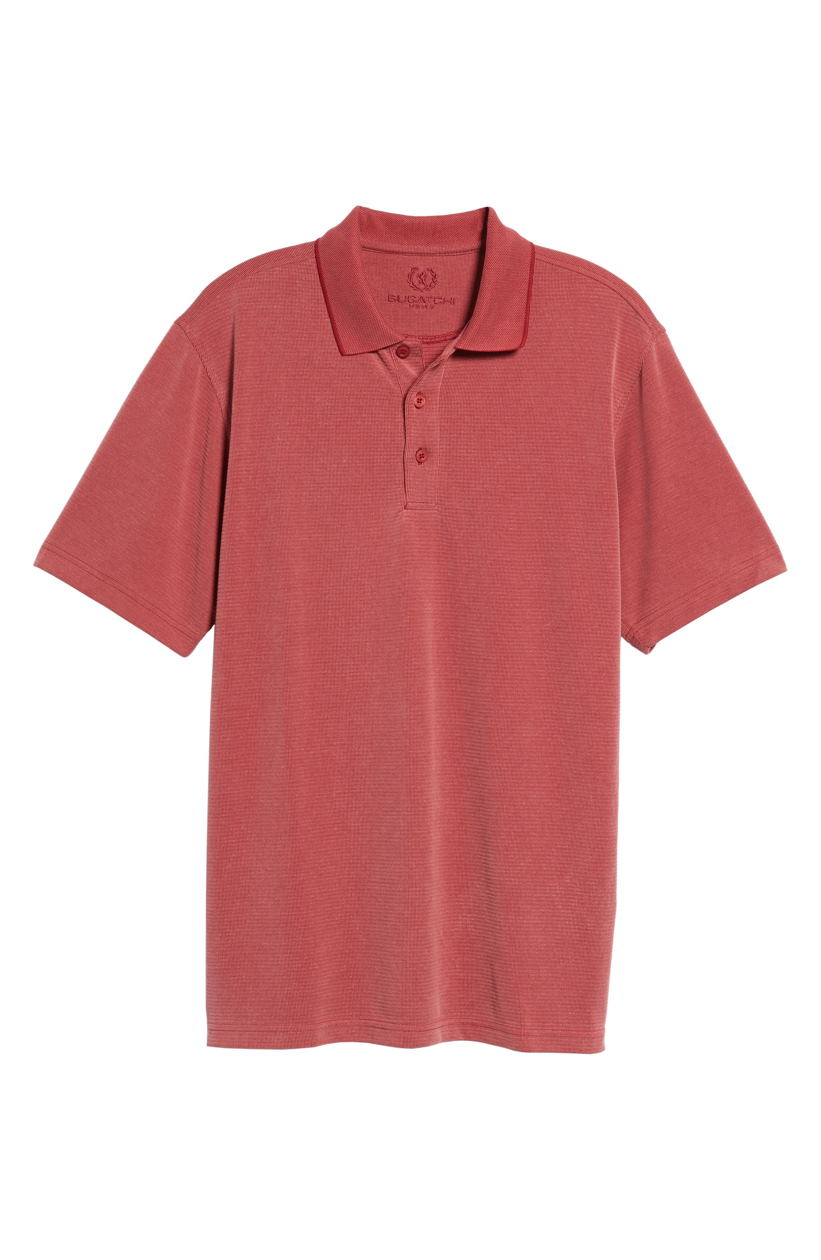 Alternate Image 6  - Bugatchi Short Sleeve Polynosic Polo