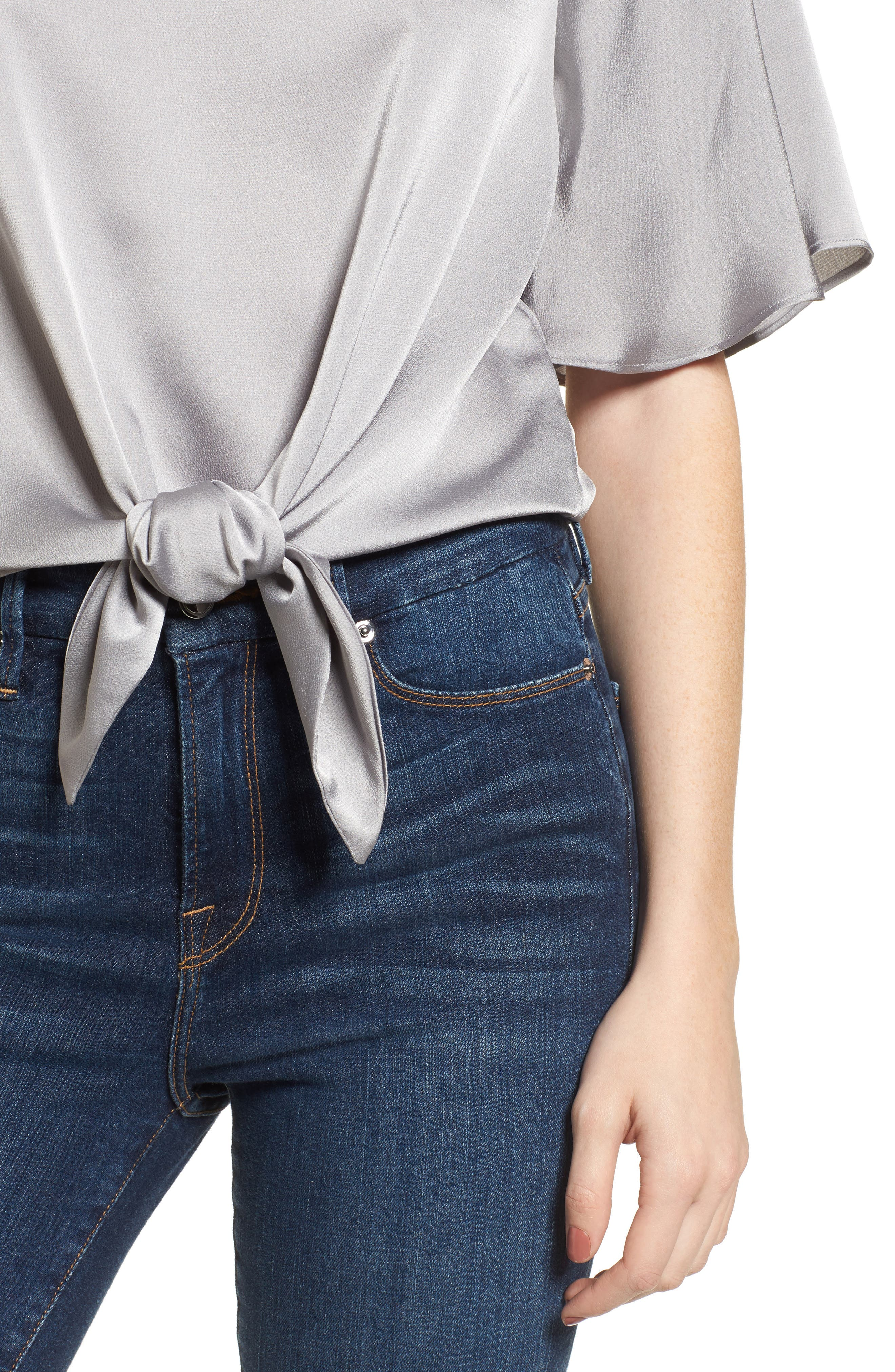 Tied Top,                             Alternate thumbnail 4, color,                             Grey