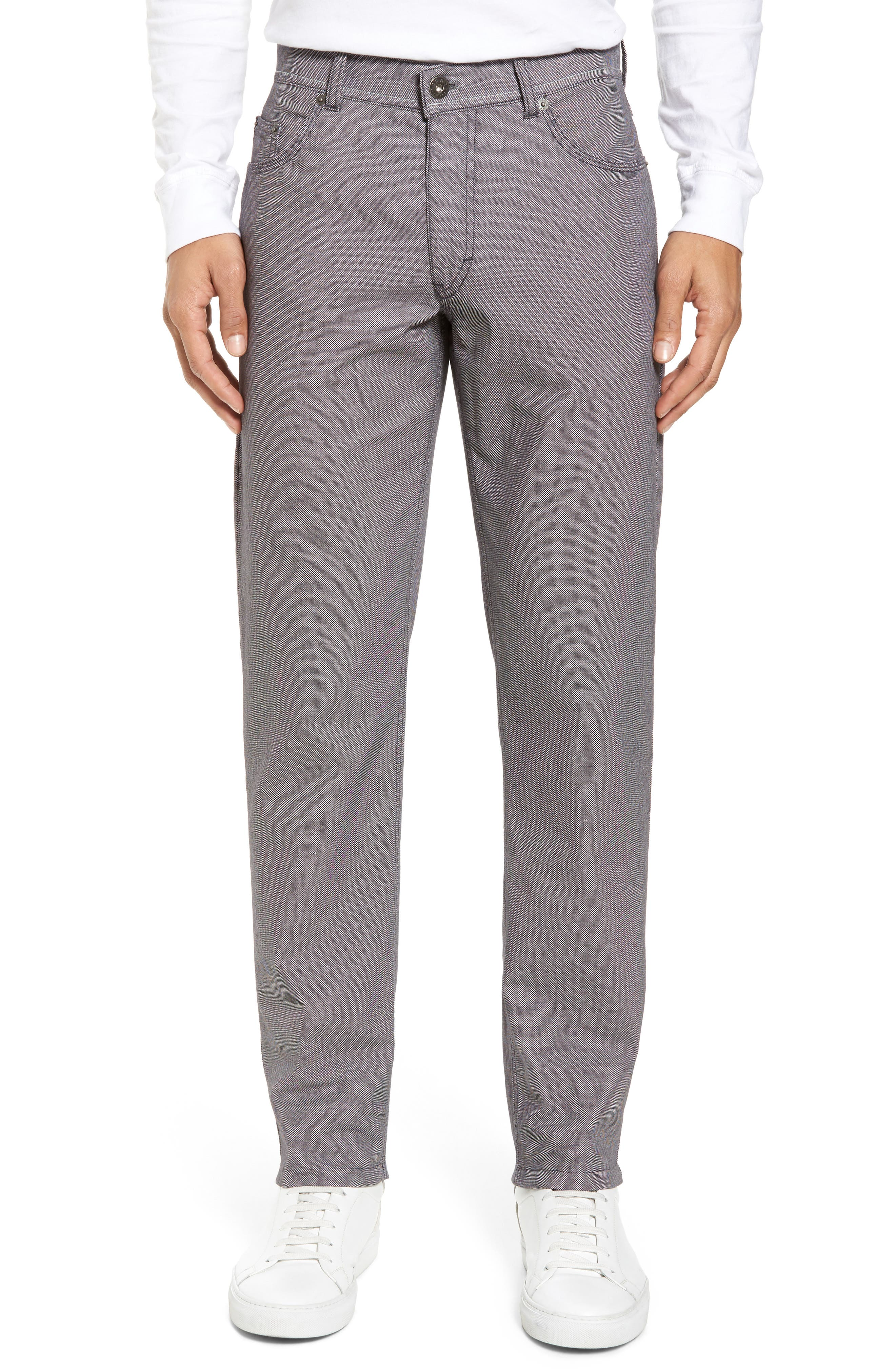 Alternate Image 1 Selected - Brax Cooper Bird's Eye Stretch Cotton Pants