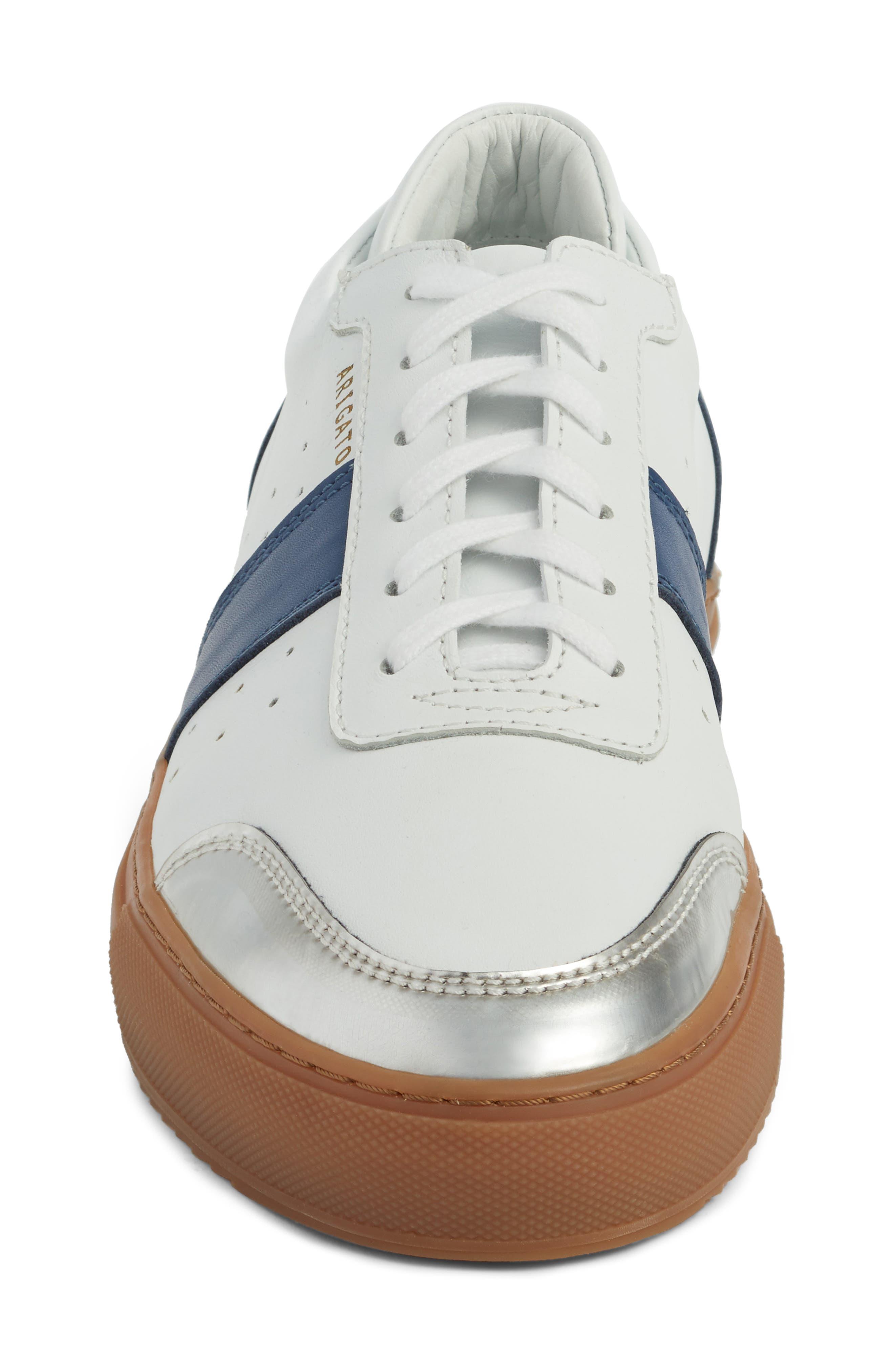 Dunk Sneaker,                             Alternate thumbnail 4, color,                             White/ Navy