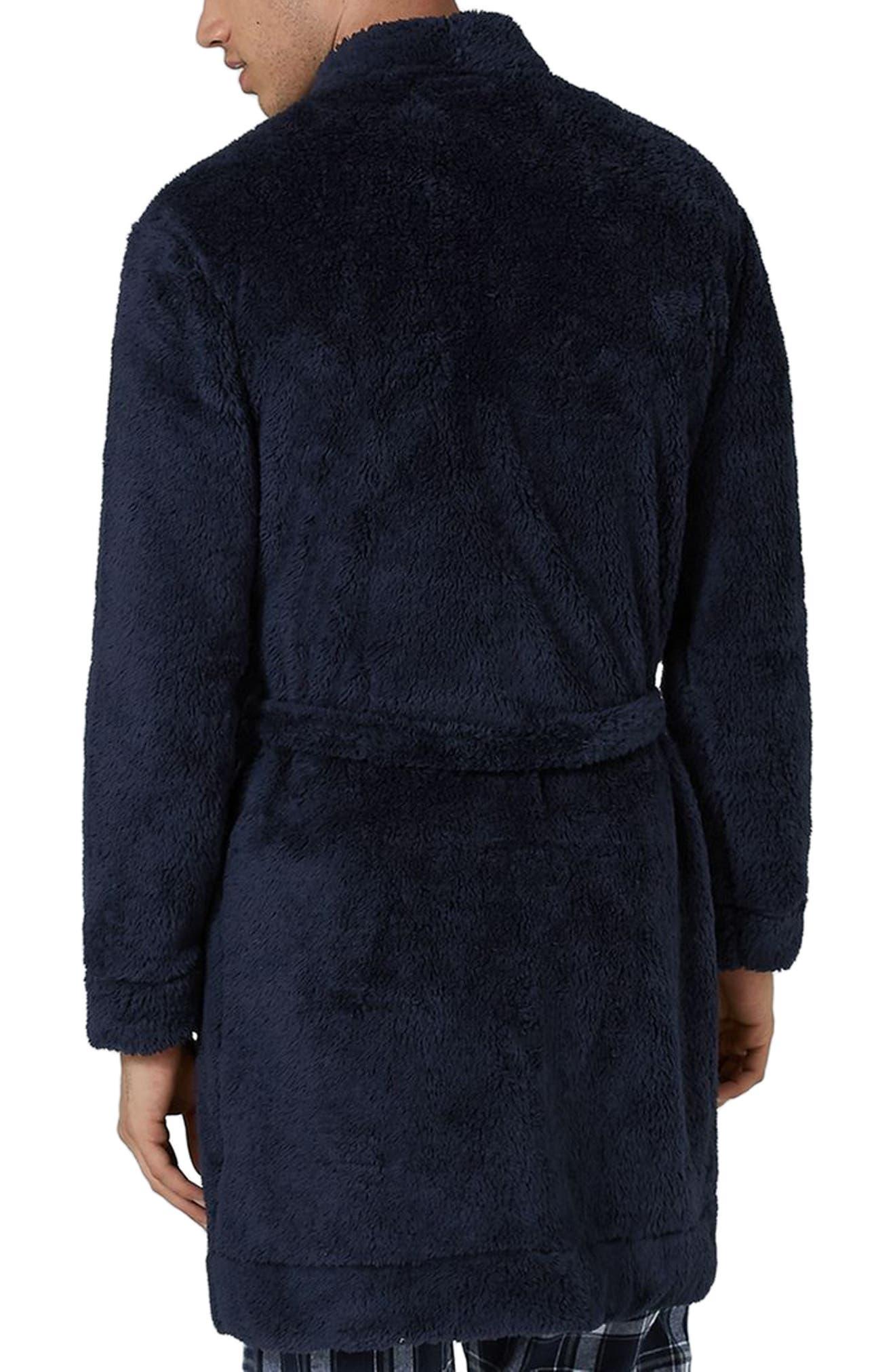 Fleece Robe,                             Alternate thumbnail 2, color,                             Dark Blue