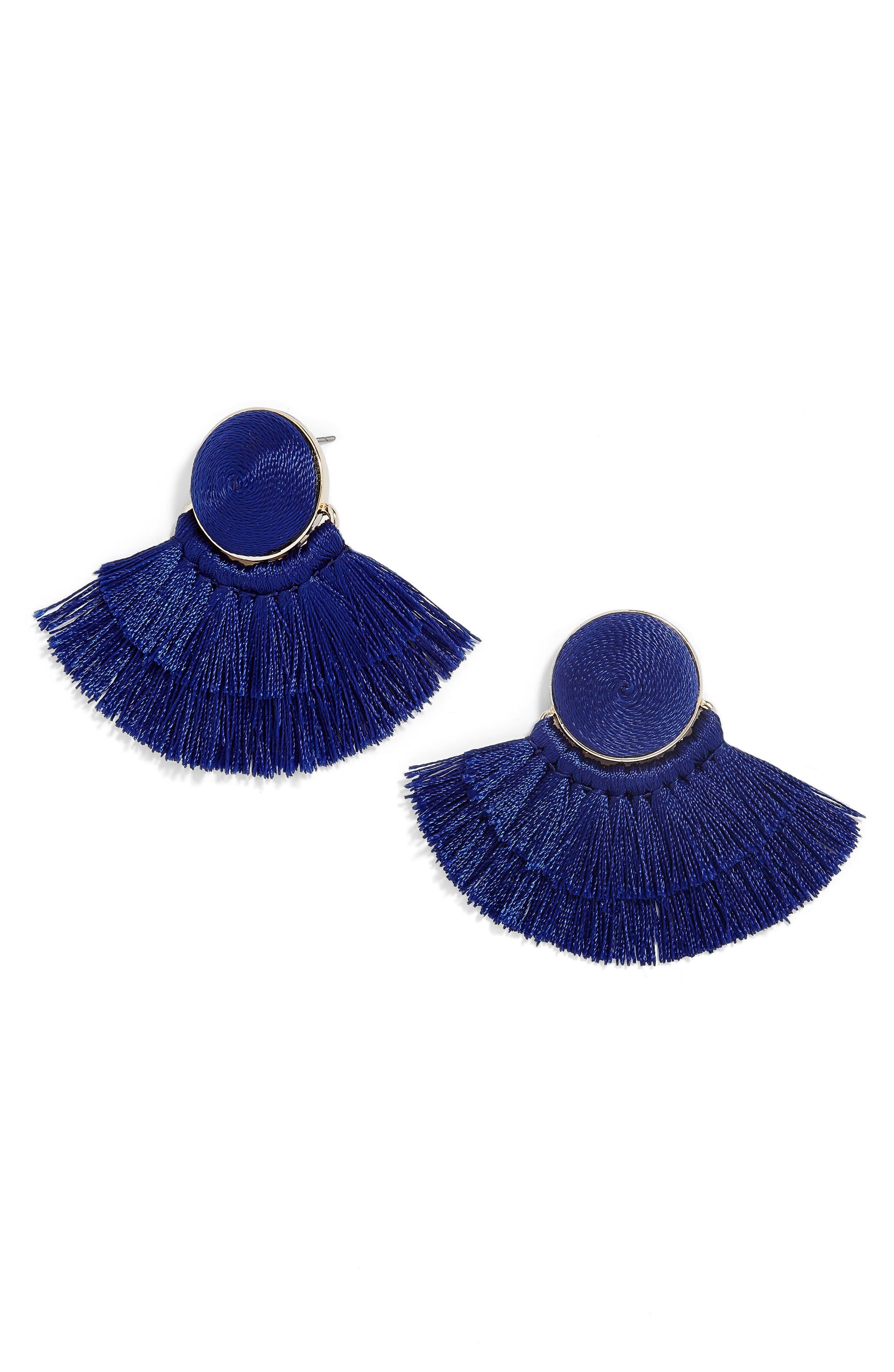 Main Image - BaubleBar Martina Chubby Deco Fringe Drop Earrings