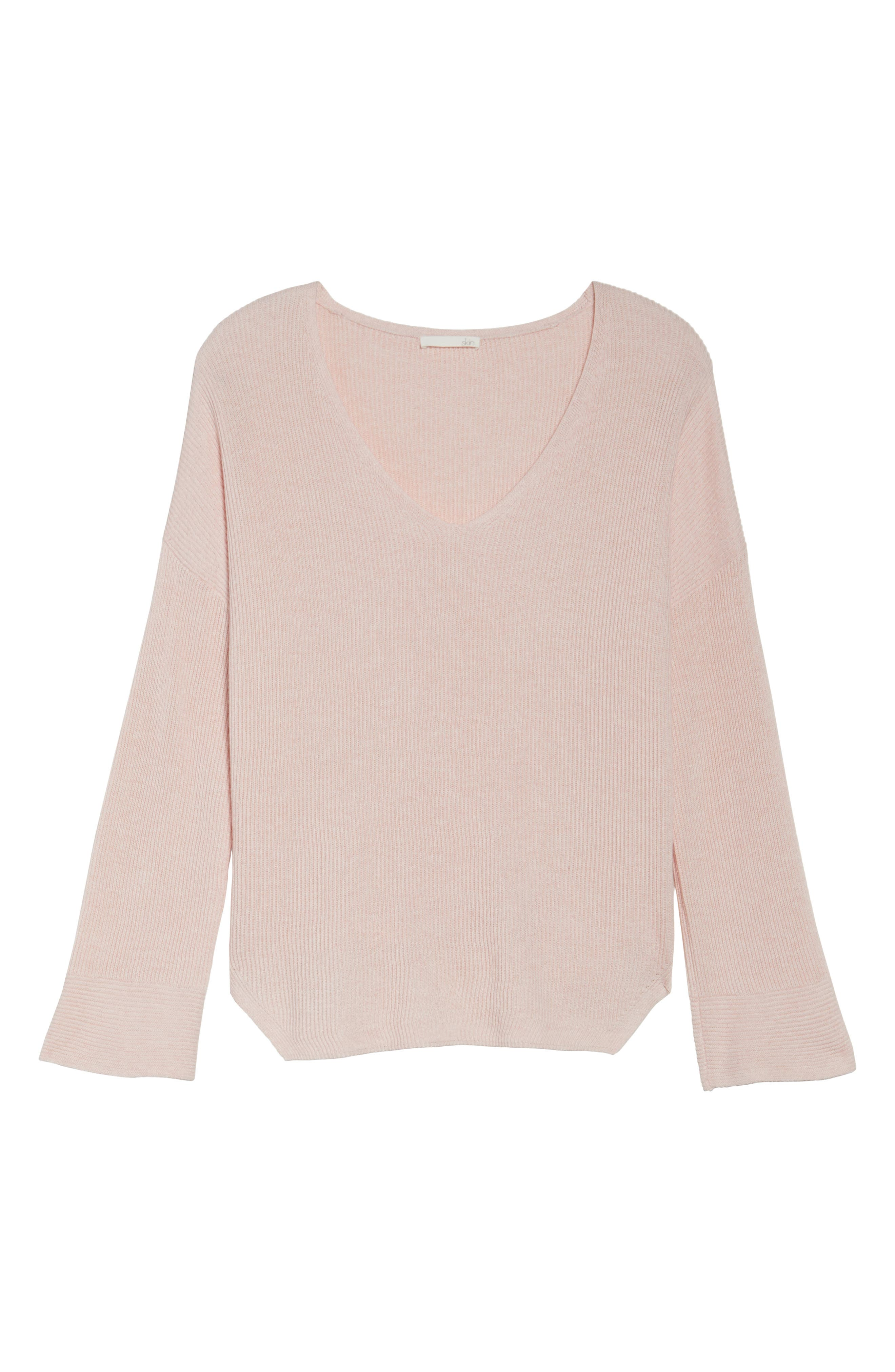Veronica Lounge Pullover,                             Alternate thumbnail 4, color,                             Soft Pink