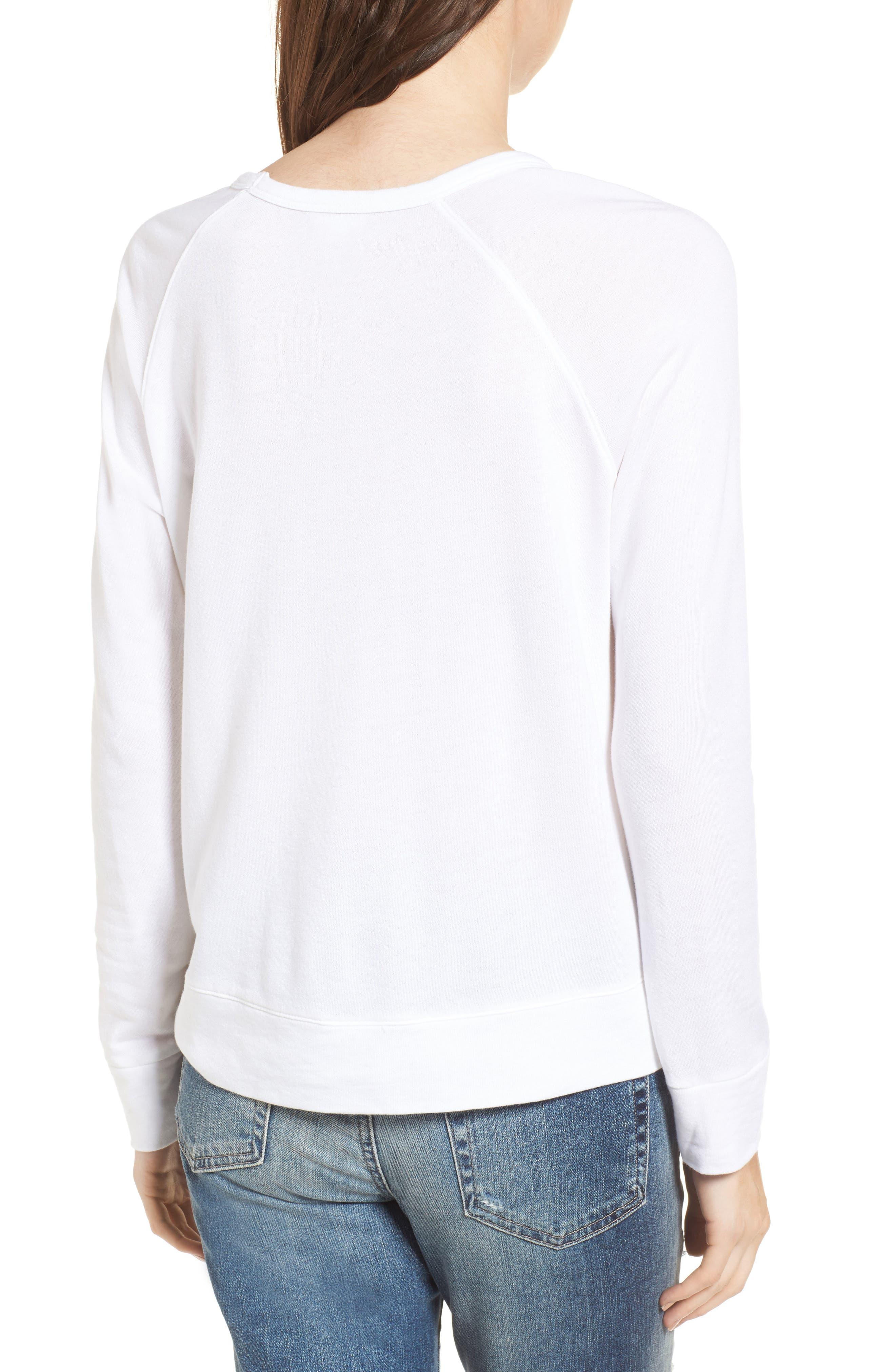 Winter Wonderland Sweatshirt,                             Alternate thumbnail 2, color,                             White
