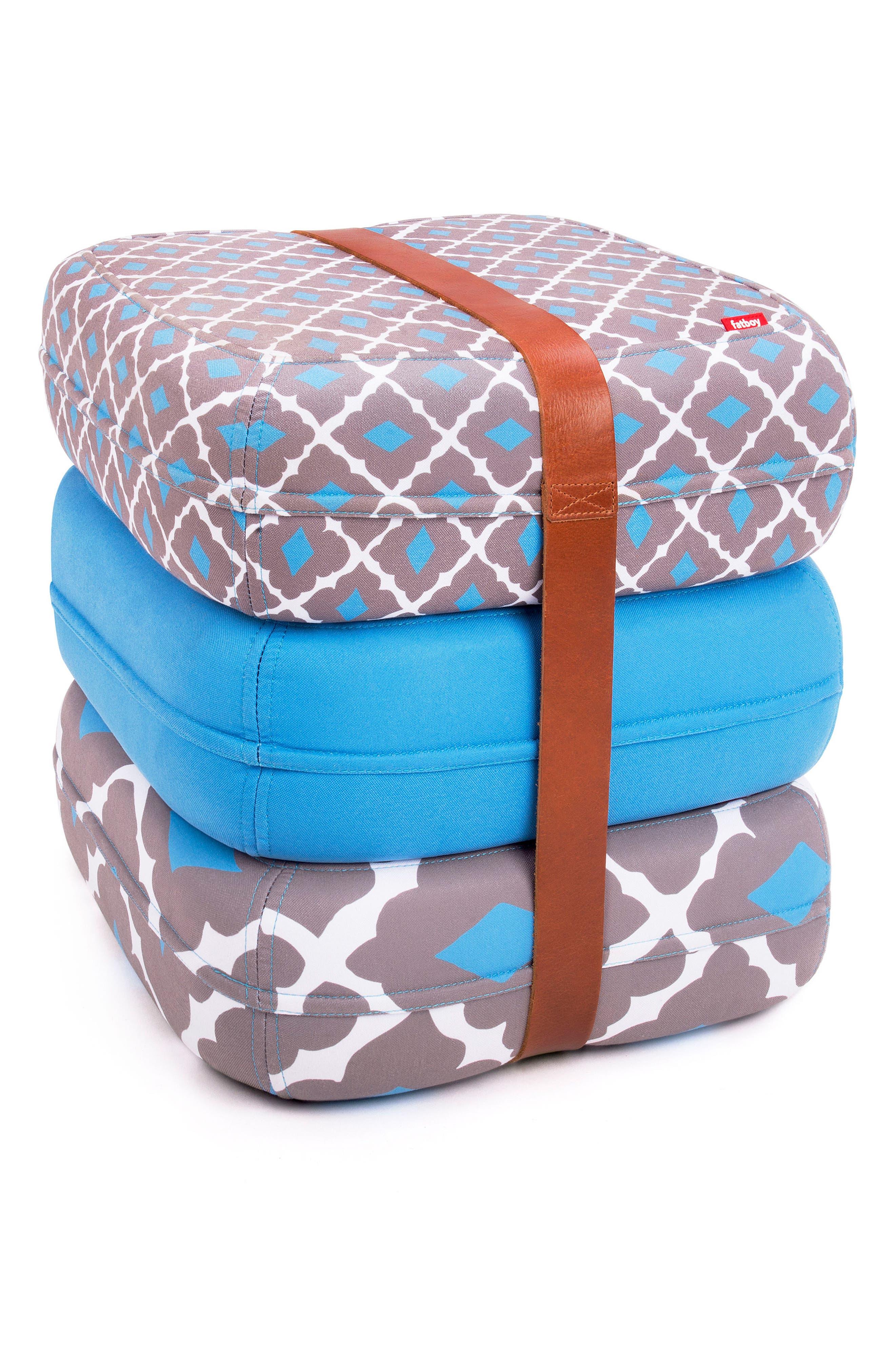 Baboesjka Set of 3 Pillows,                         Main,                         color, Amelia Blue