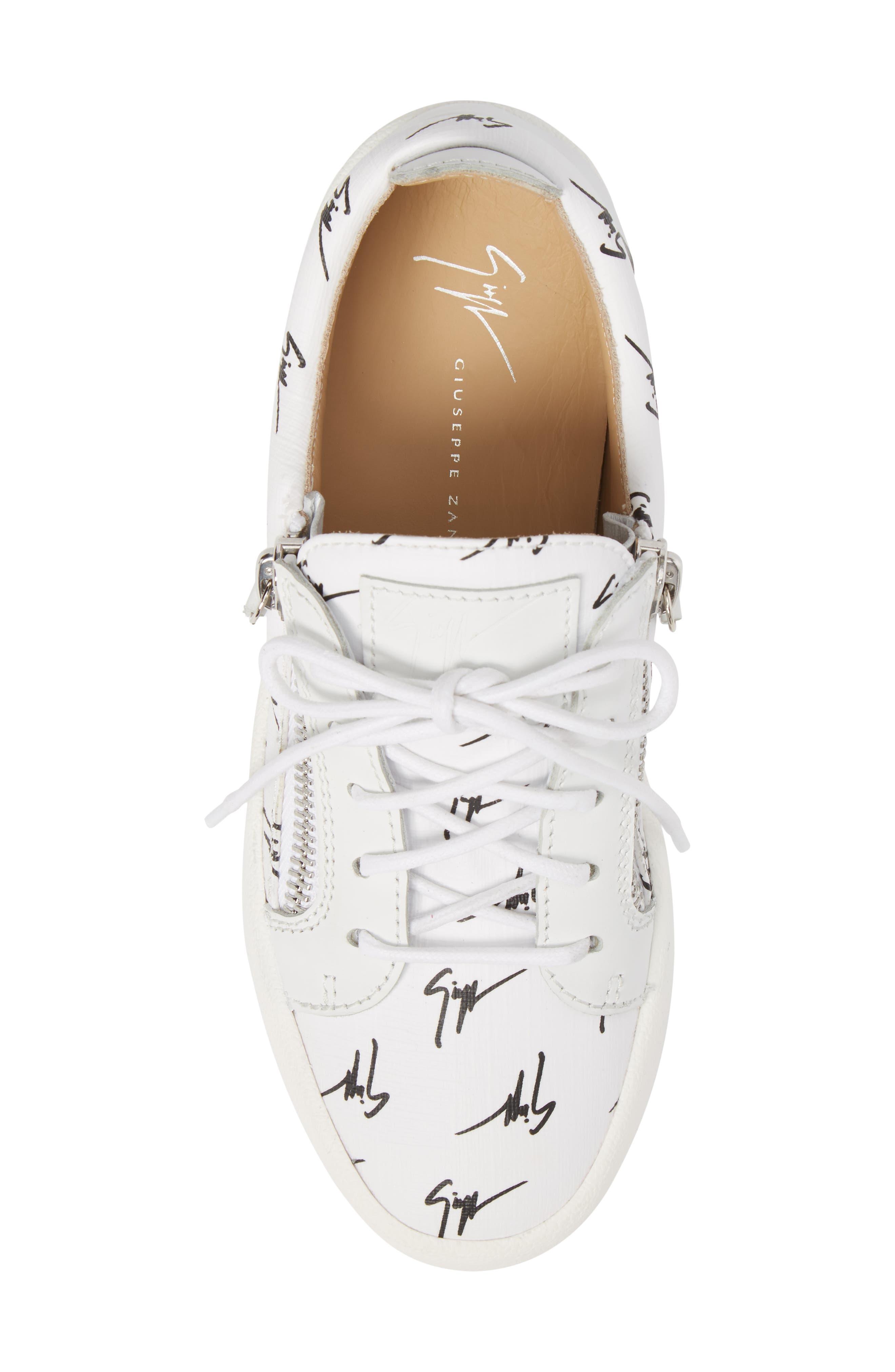 Maylondon Logo Sneaker,                             Alternate thumbnail 5, color,                             White/ Black