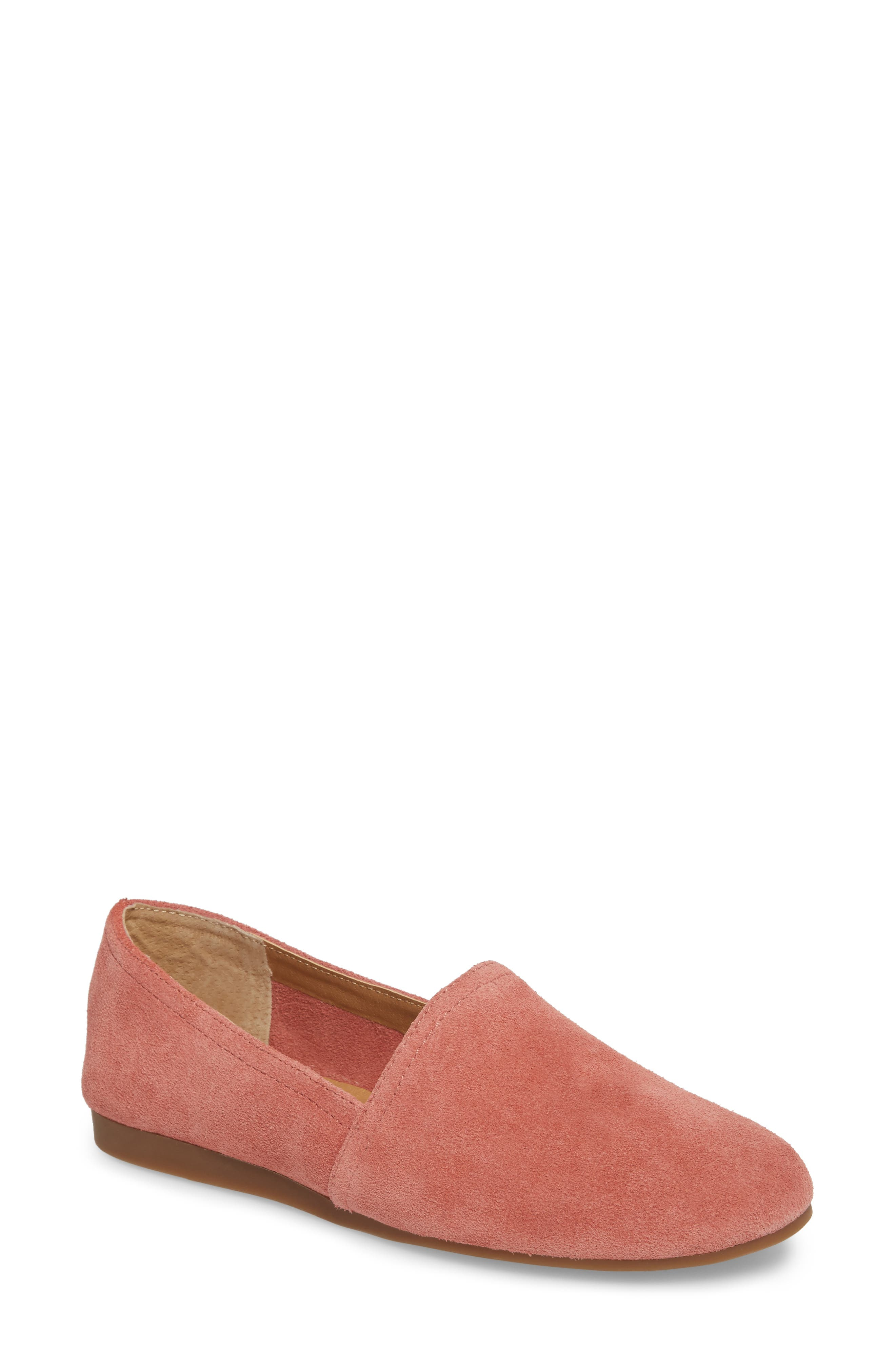 Brettany Loafer,                             Main thumbnail 1, color,                             Canyon Rose Suede