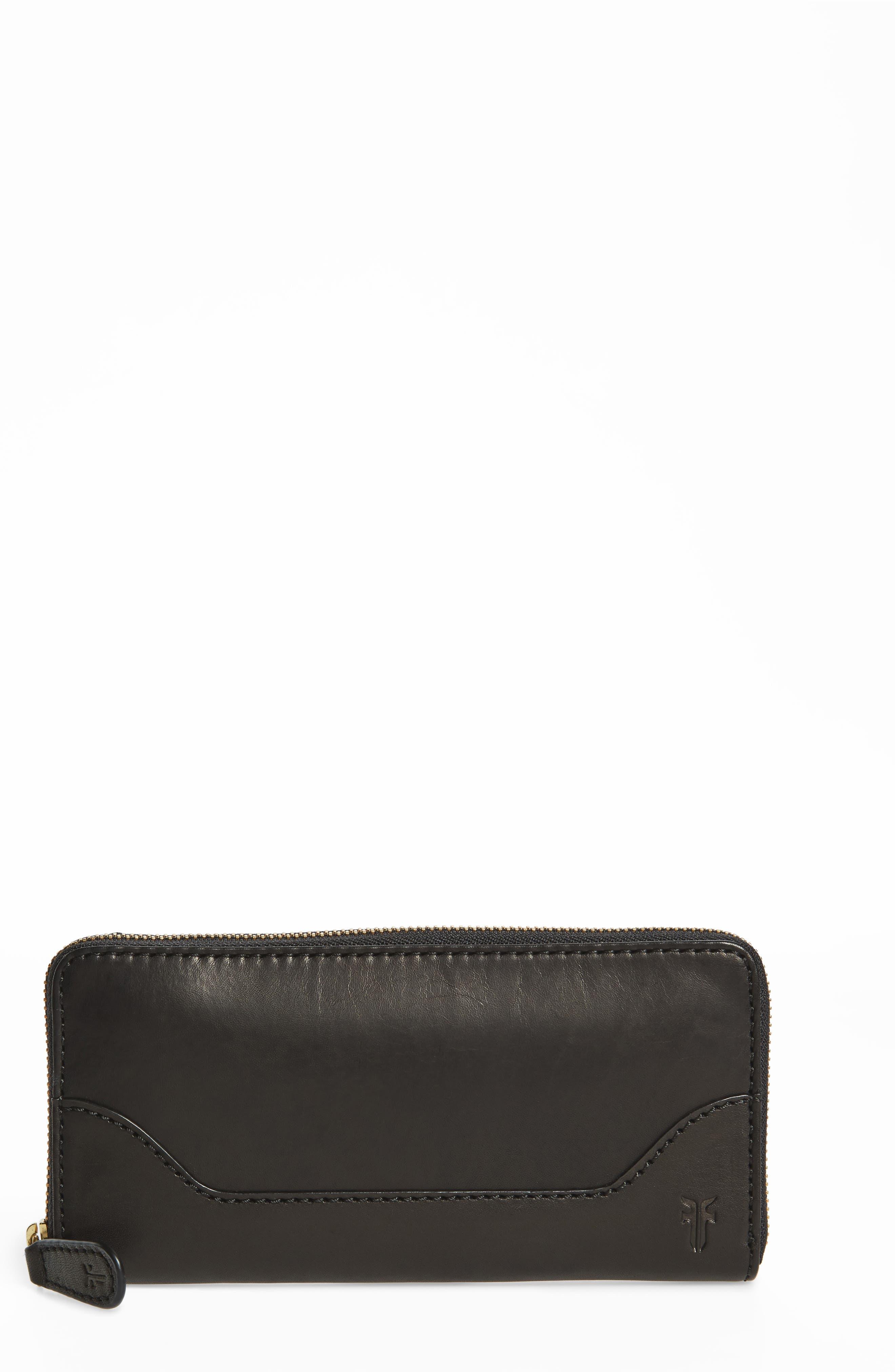 Frye Melissa Leather Zip Wallet