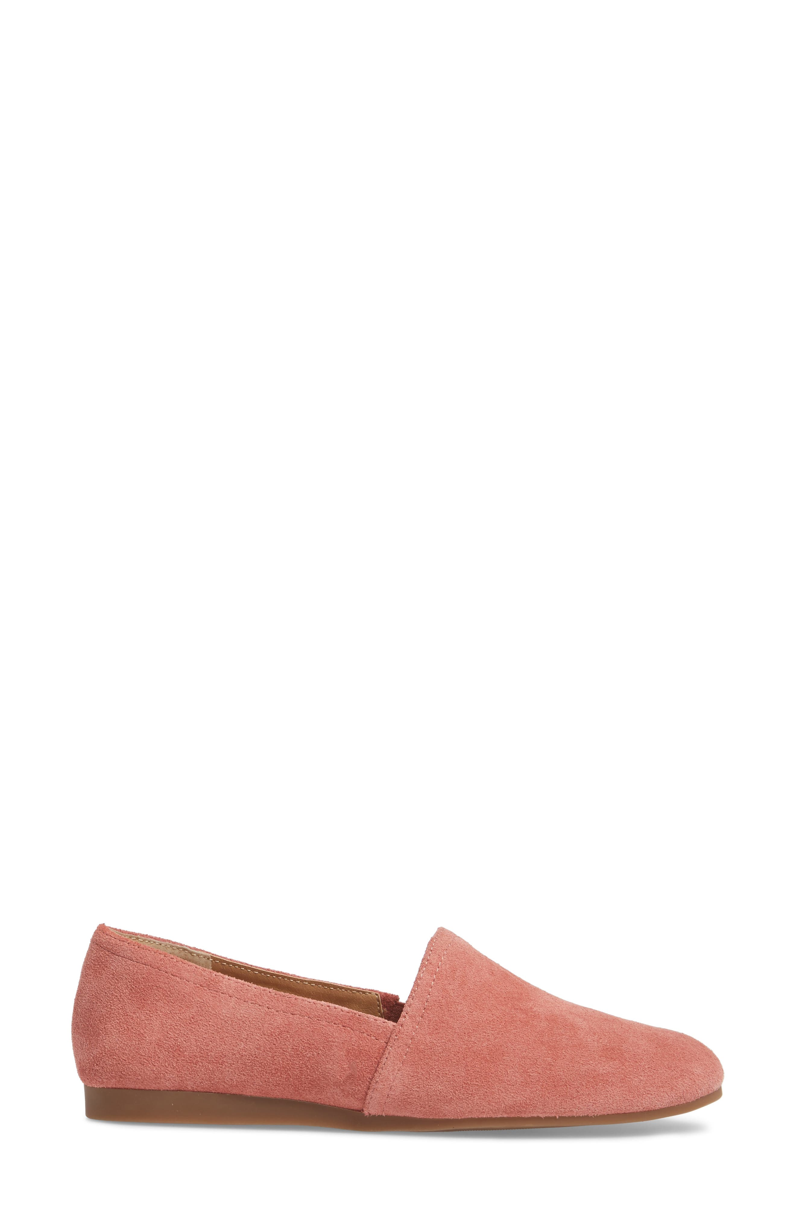 Brettany Loafer,                             Alternate thumbnail 3, color,                             Canyon Rose Suede
