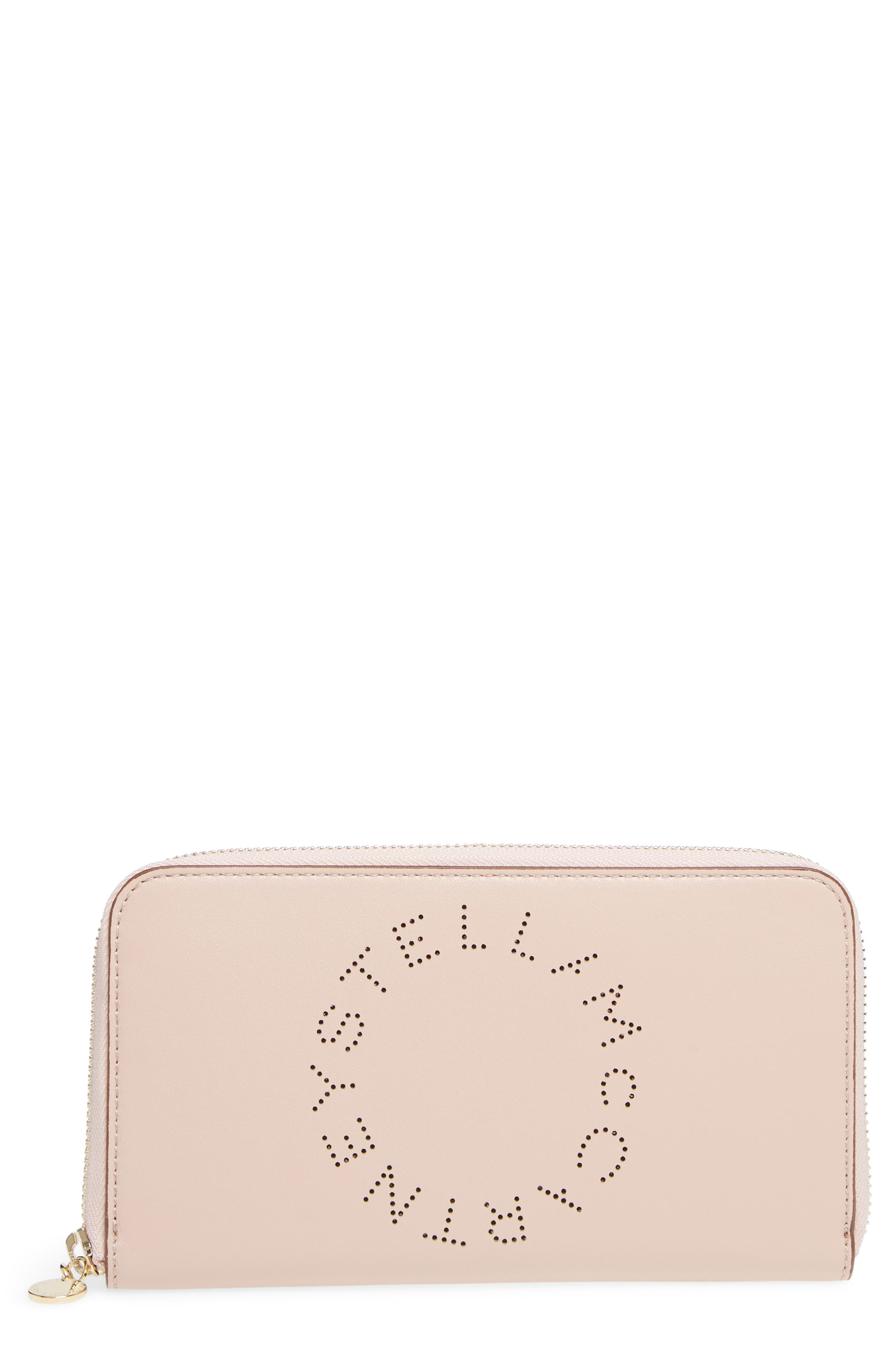 Main Image - Stella McCartney Alter Nappa Perforated Logo Faux Leather Wallet