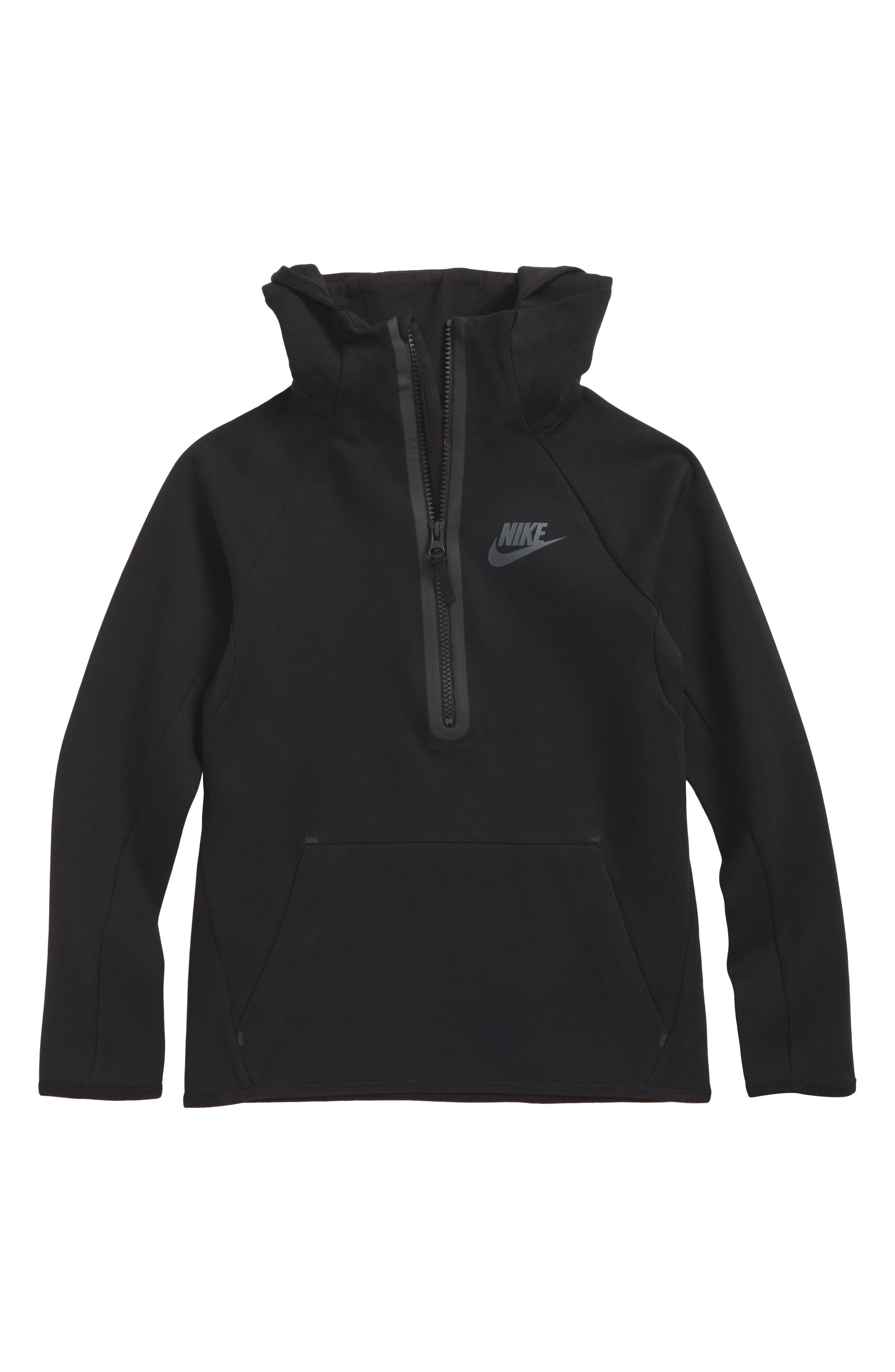 Alternate Image 1 Selected - Nike Sportswear Tech Quarter Zip Hoodie (Little Boys & Big Boys)
