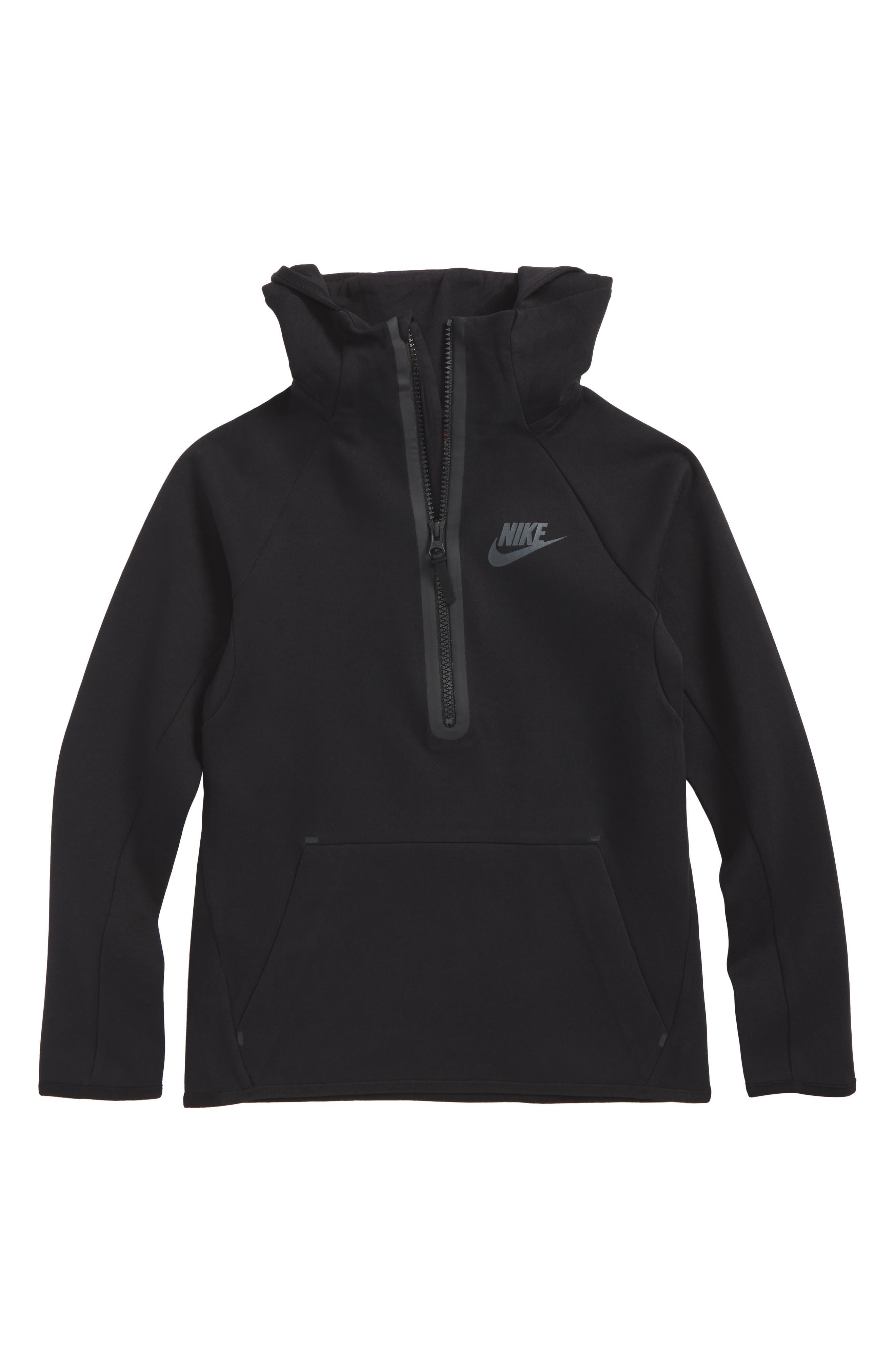 Sportswear Tech Quarter Zip Hoodie,                         Main,                         color, Black
