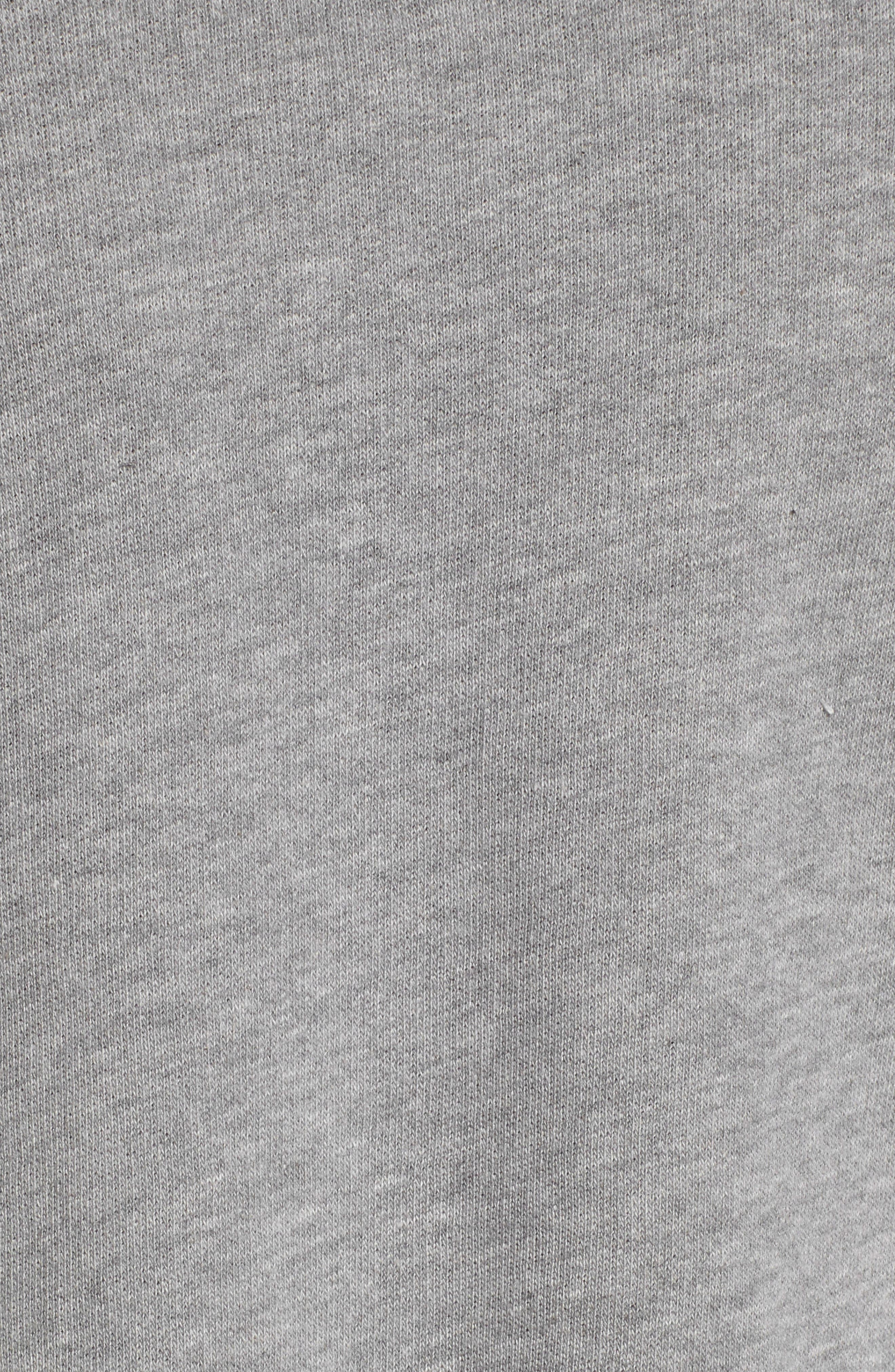 Asymmetric Ruffle Sweatshirt,                             Alternate thumbnail 5, color,                             Heather Grey