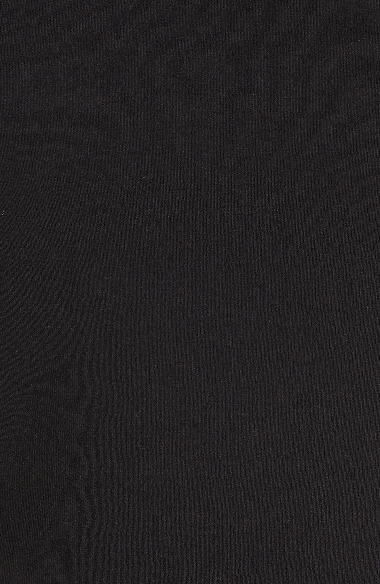 Cotton Jersey Open Back Tee,                             Alternate thumbnail 6, color,                             Black