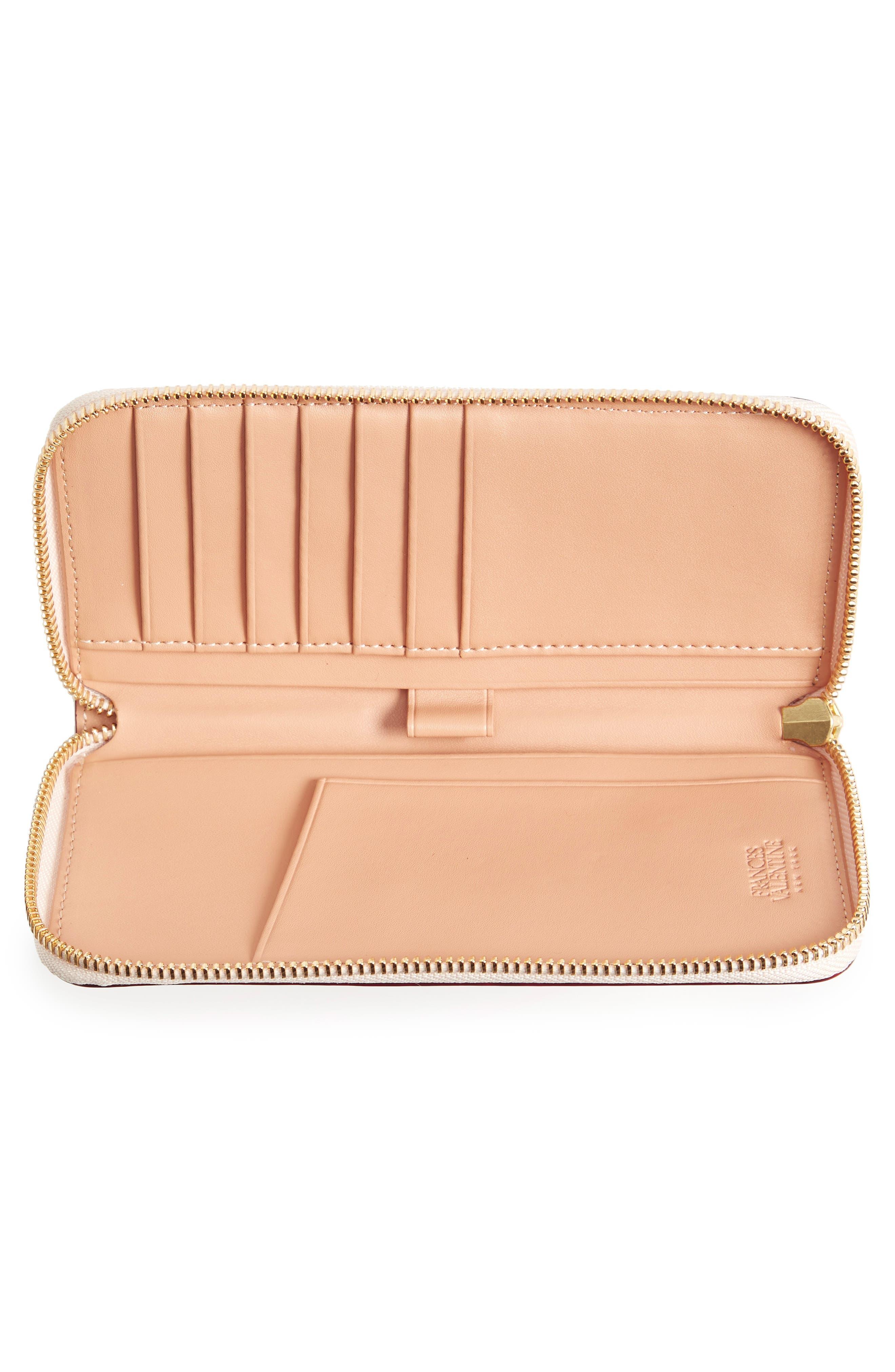 Alternate Image 4  - Frances Valentine Kennedy Calfskin Leather Zip Around Wallet