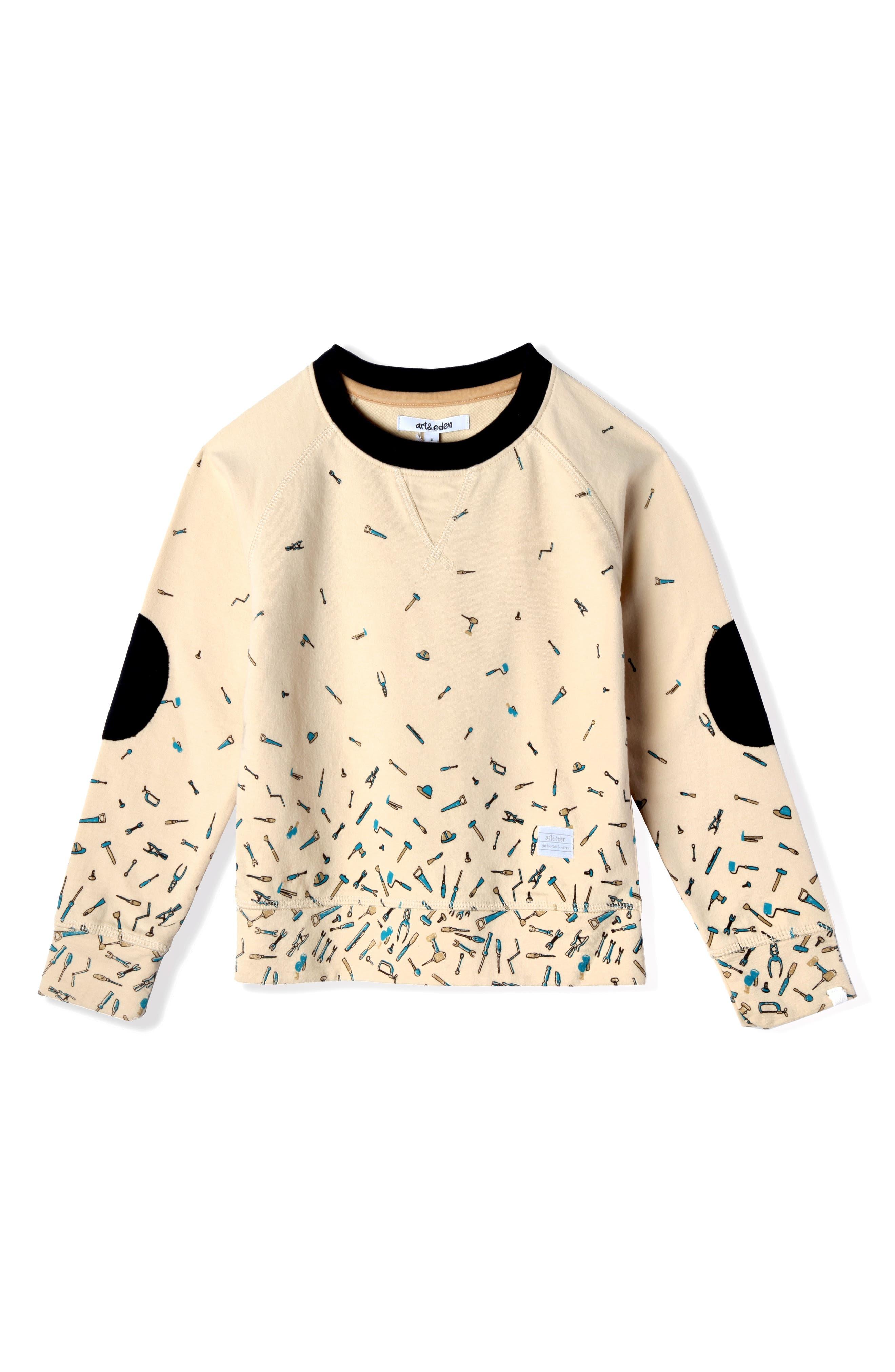 Samuel Organic Cotton Blend Sweatshirt,                         Main,                         color, Marled
