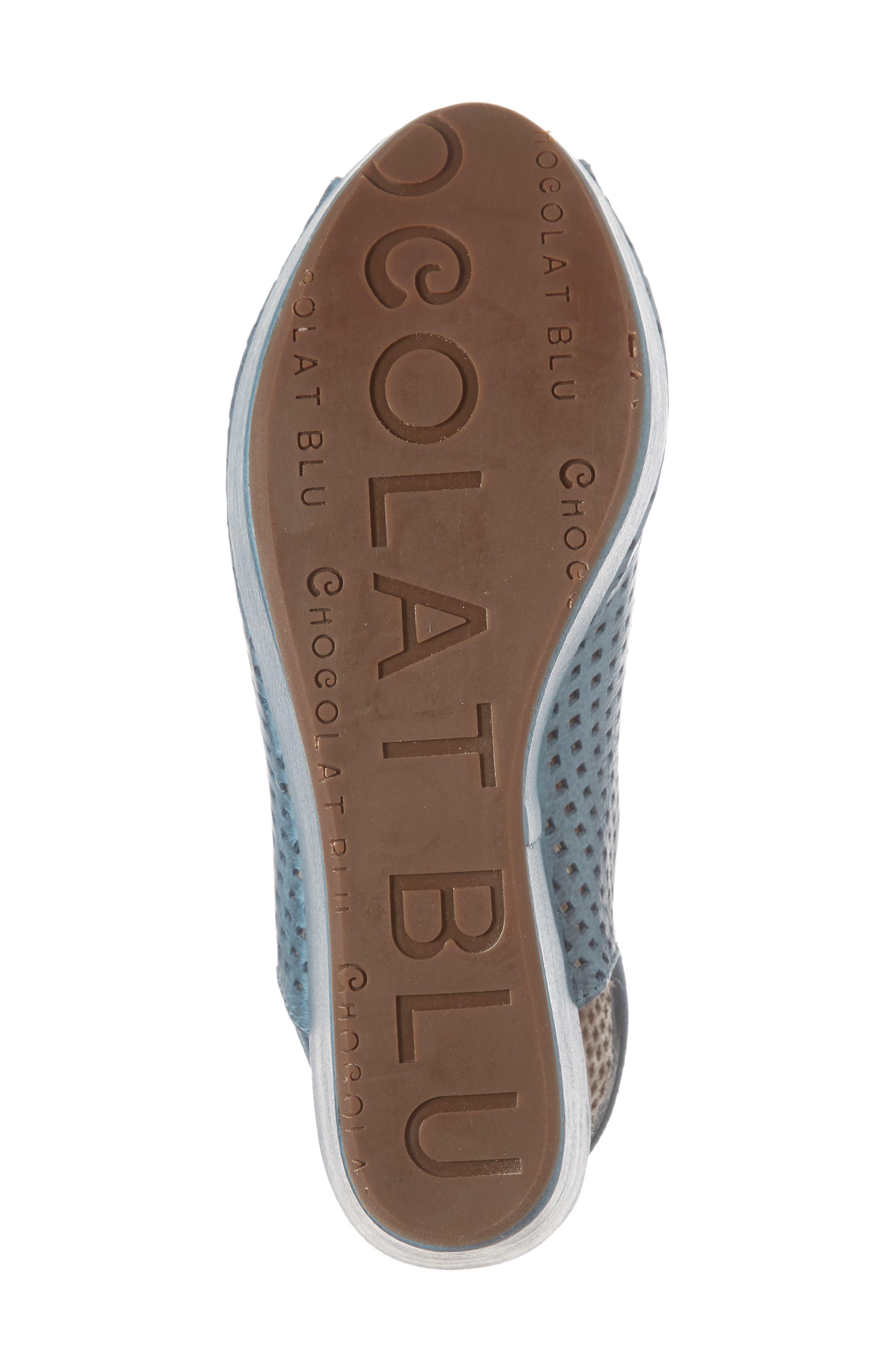 Alternate Image 6  - Chocolat Blu Wing Perforated Platform Wedge (Women)